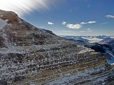 A view of the Transantarctic Mountains from the NASA P-3 airborne laboratory during IceBridge's Nov. 27, 2013 survey.
