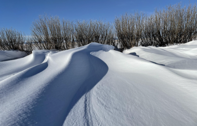after - drifts at ground level