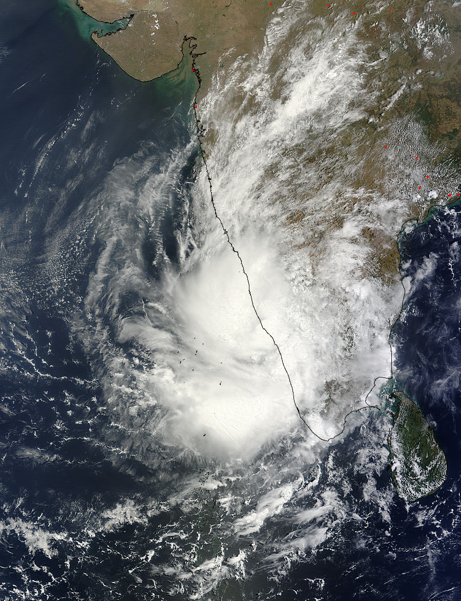 hurricanes in india