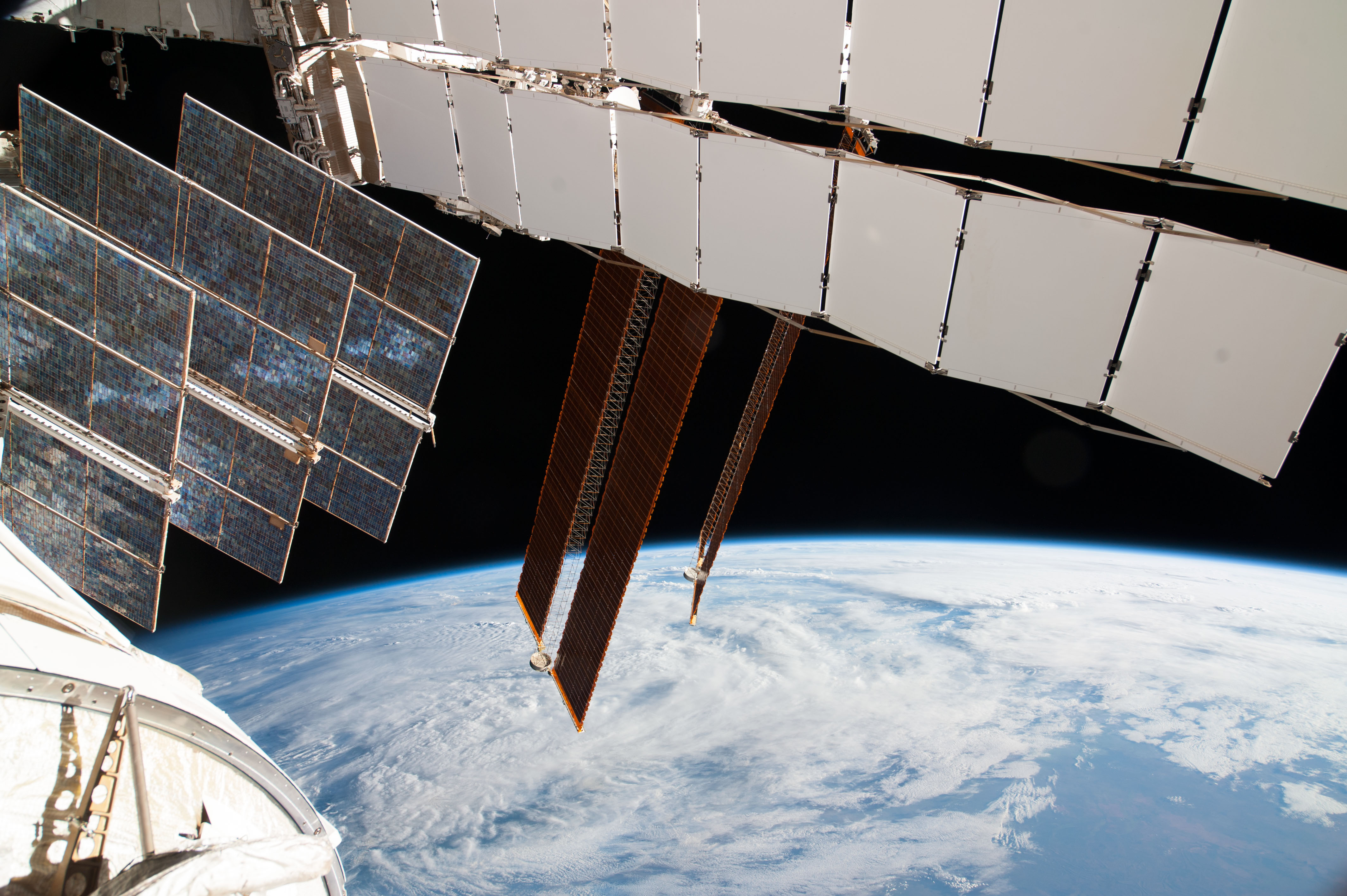 Solar Array Panels On Russian Segment Of Space Station Nasa