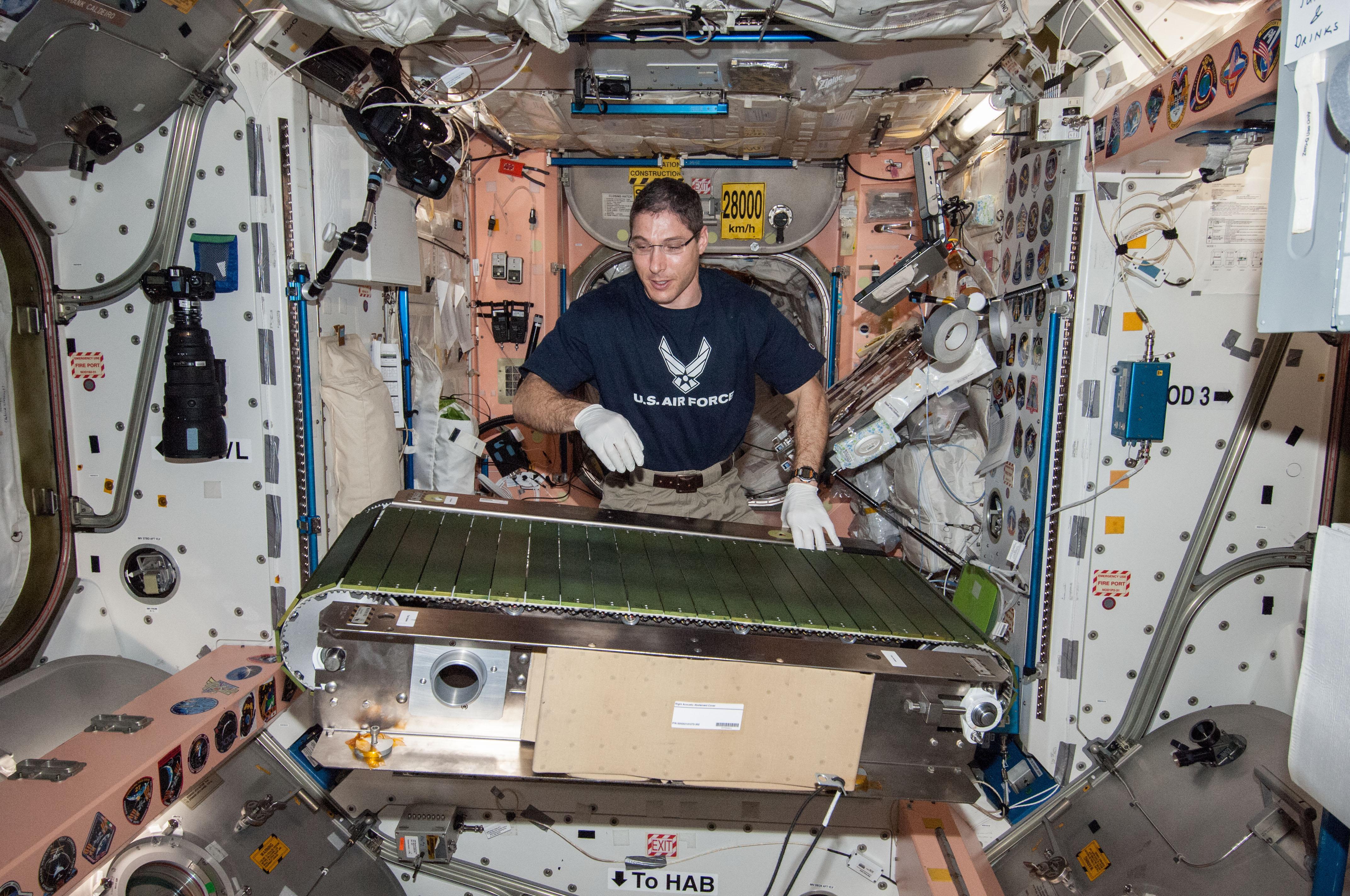 Astronaut Mike Hopkins Works on COLBERT Treadmill   NASA