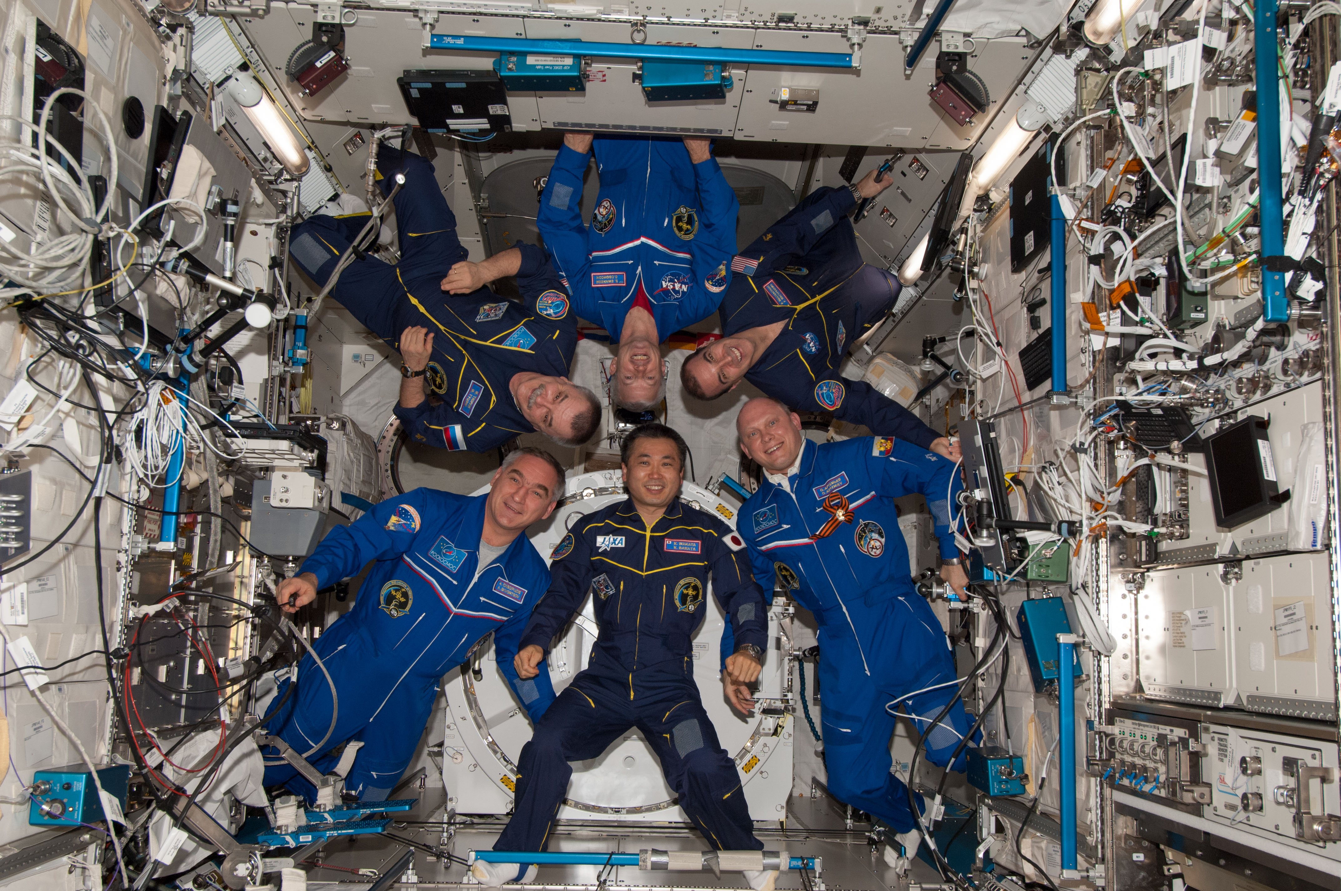 stations expedition 39 crew poses for portrait nasa