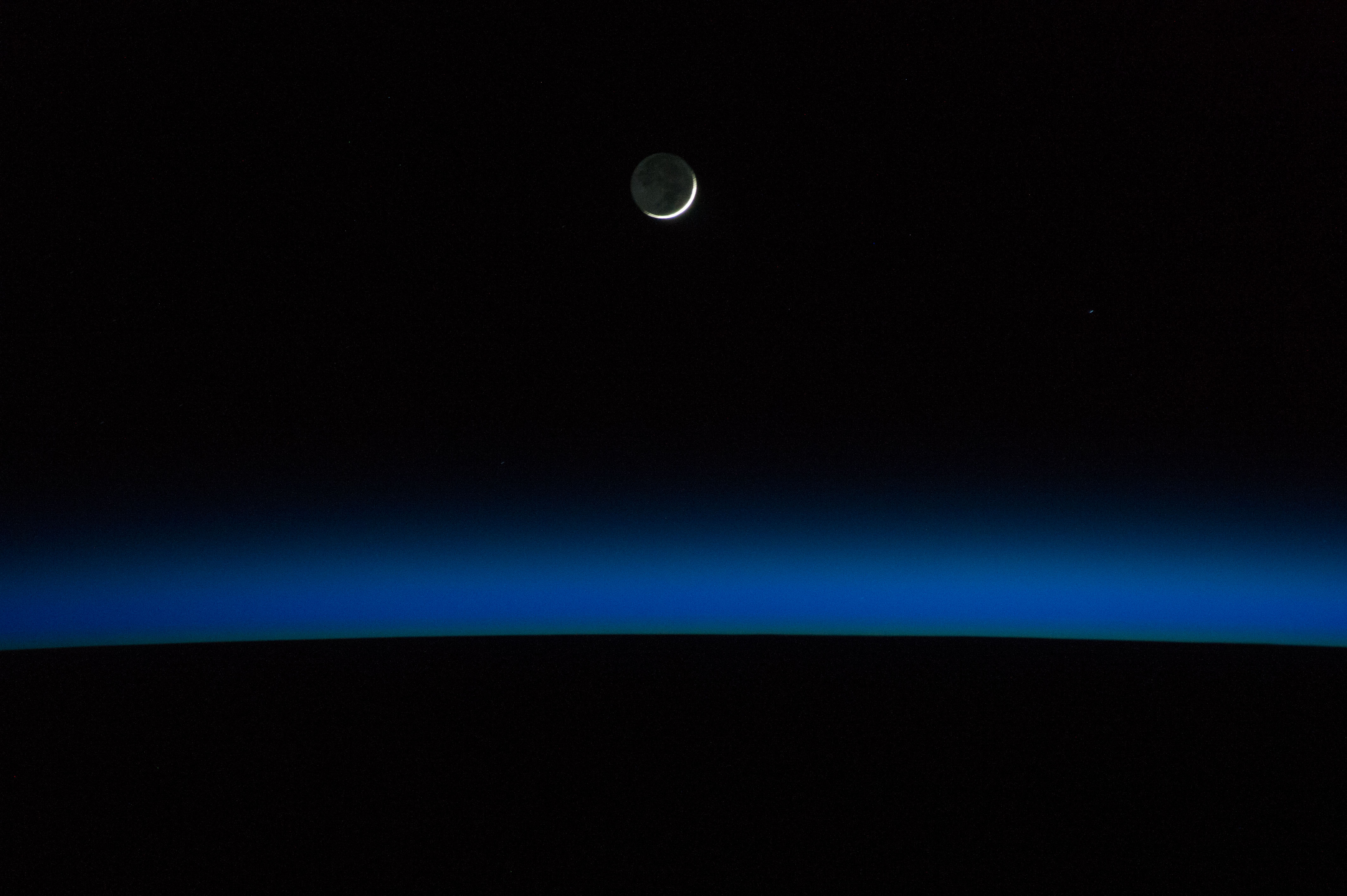 earth horizon nasa night - photo #43