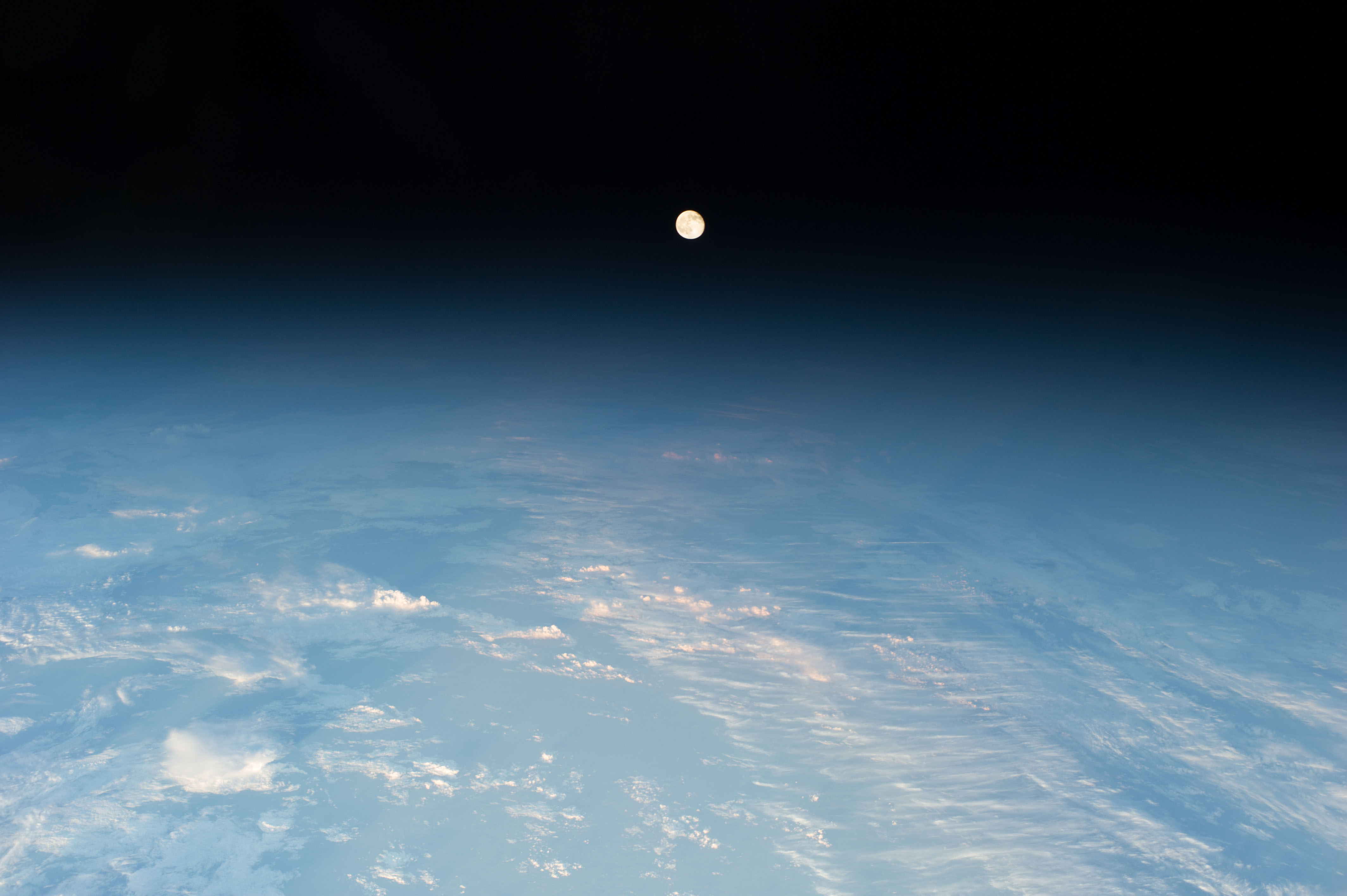 Station View Of Waning Gibbous Moon Nasa