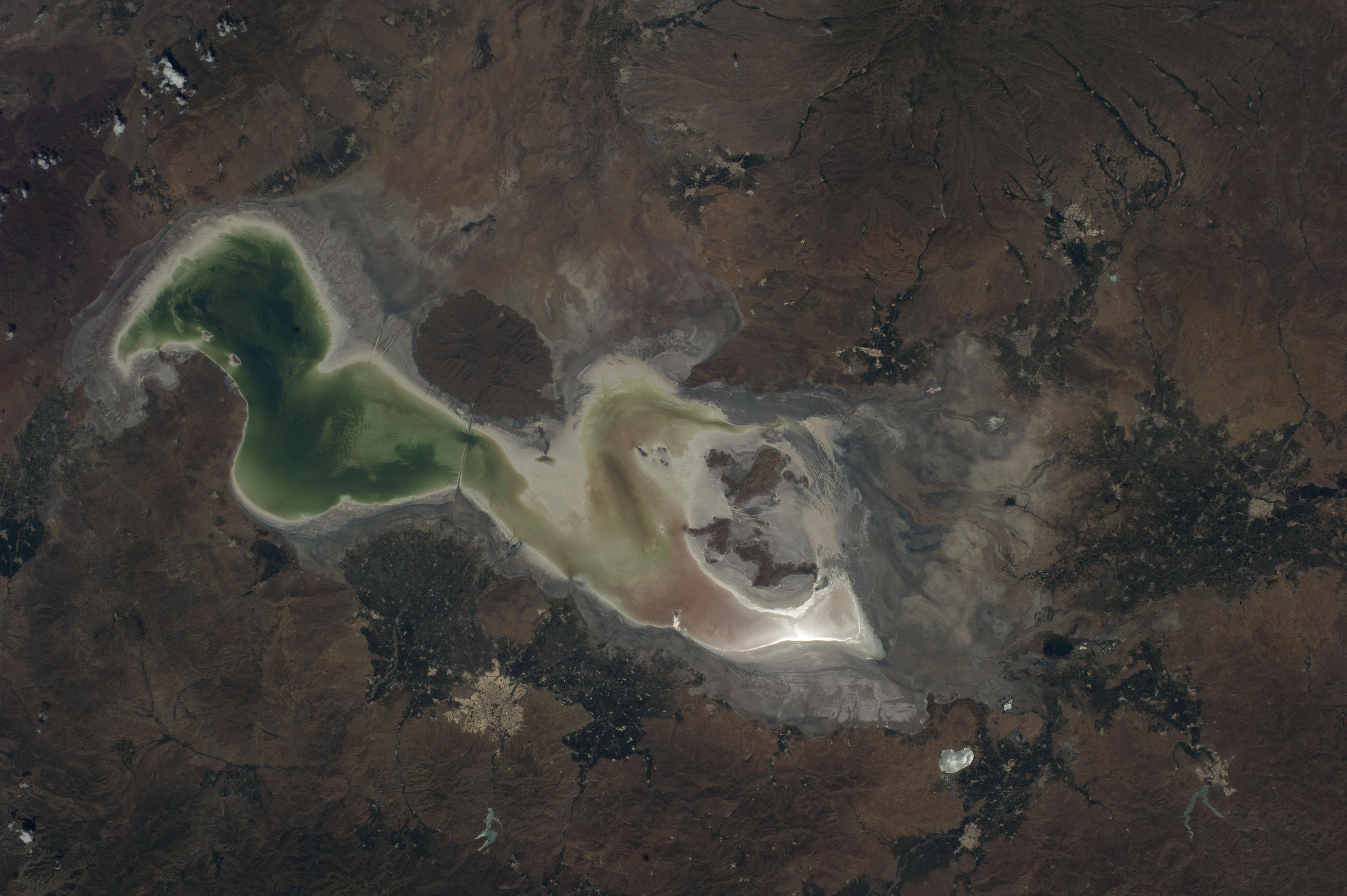Lake Urmia Iran NASA