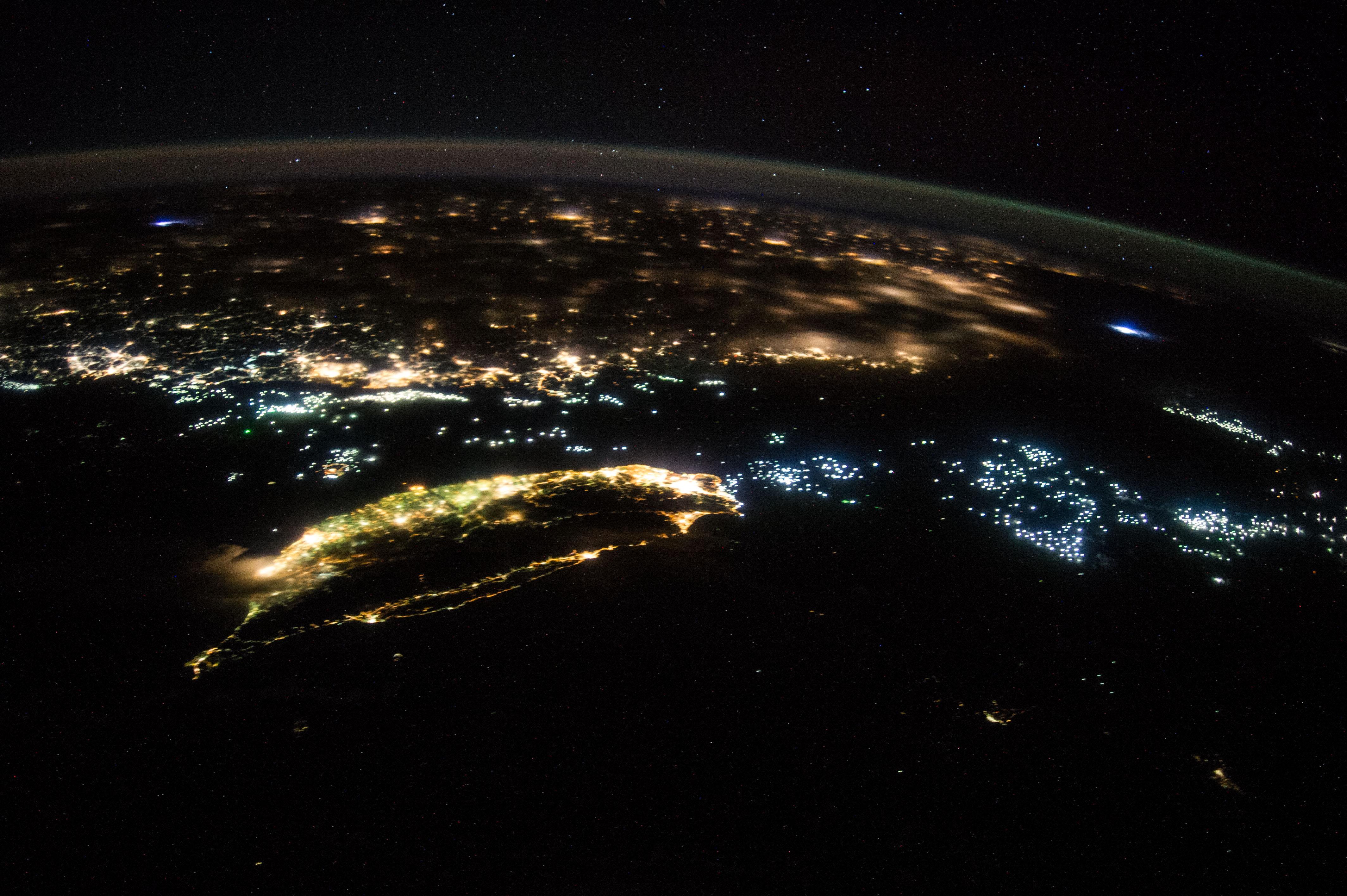 Oblique Night Image of...