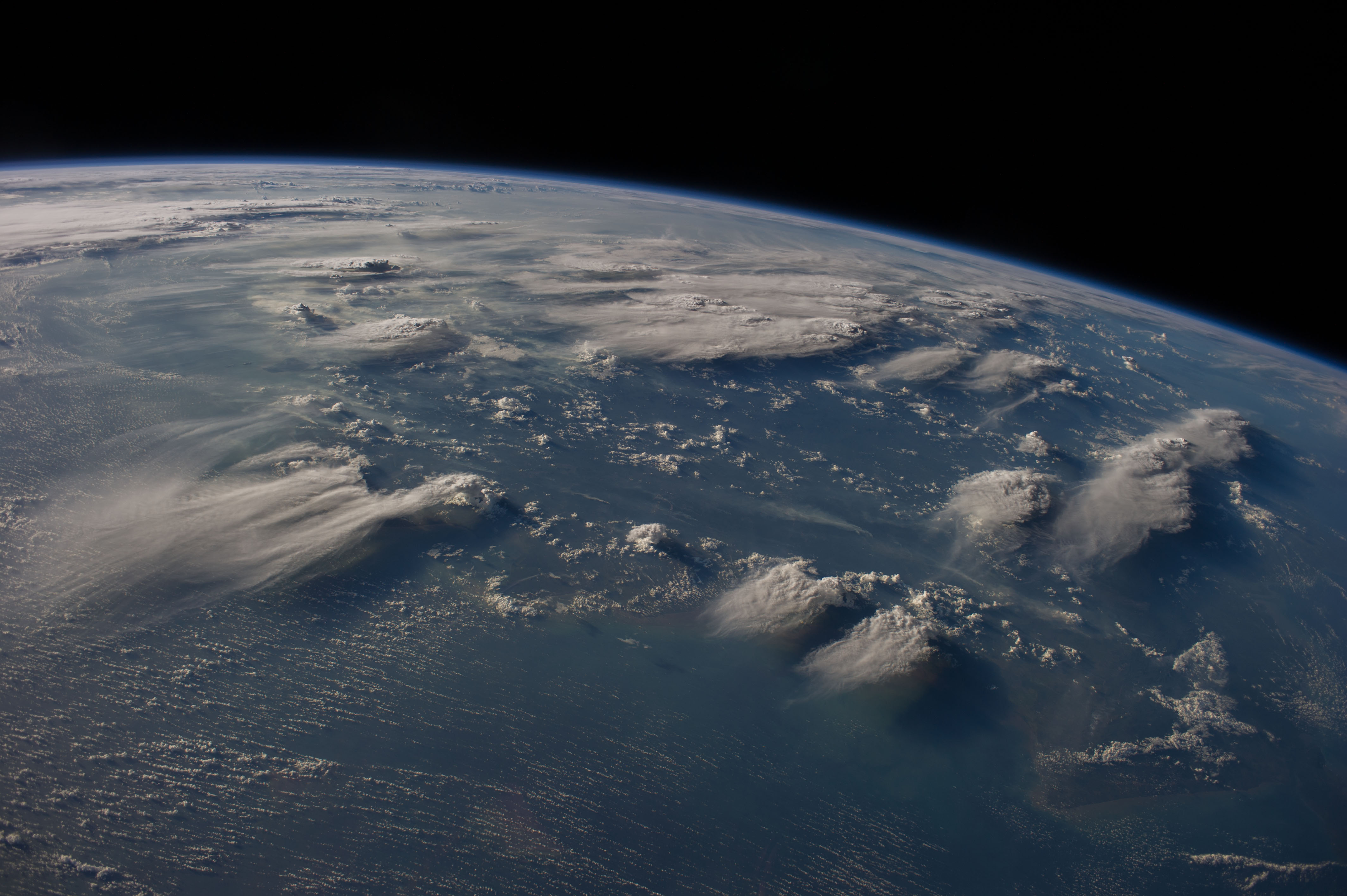 Thunderheads near Borneo, Indonesia | NASA