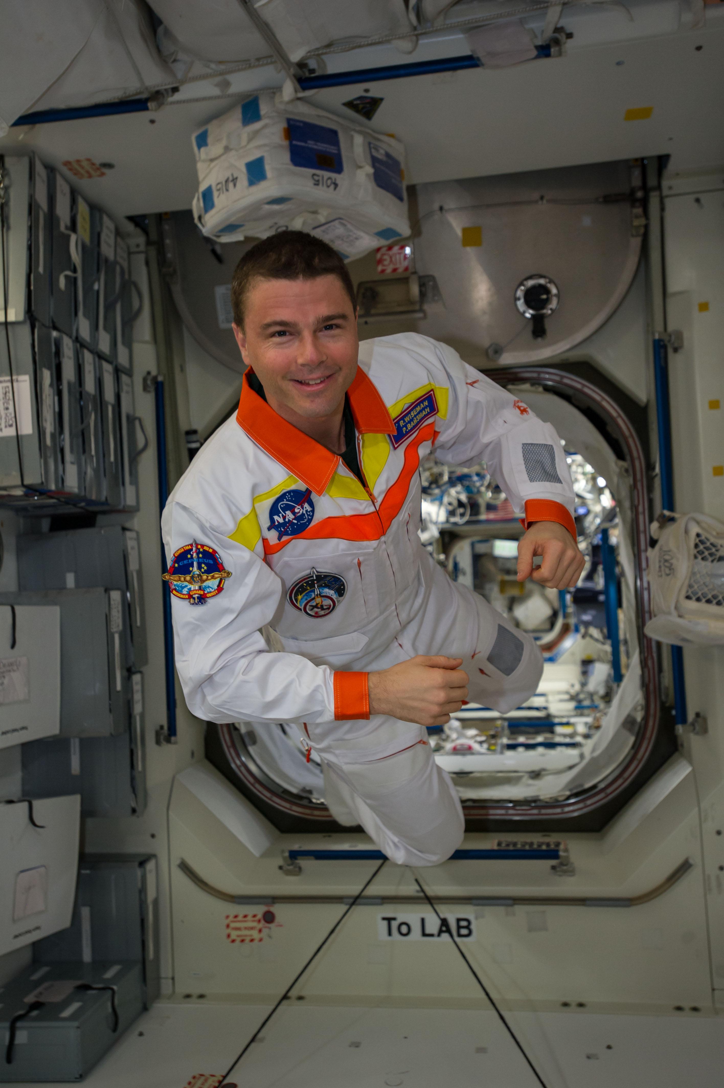 NASA Astronaut Reid Wiseman in Station's Unity Node   NASA