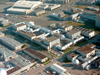 Aerial view of wind tunnels at NASA Ames.