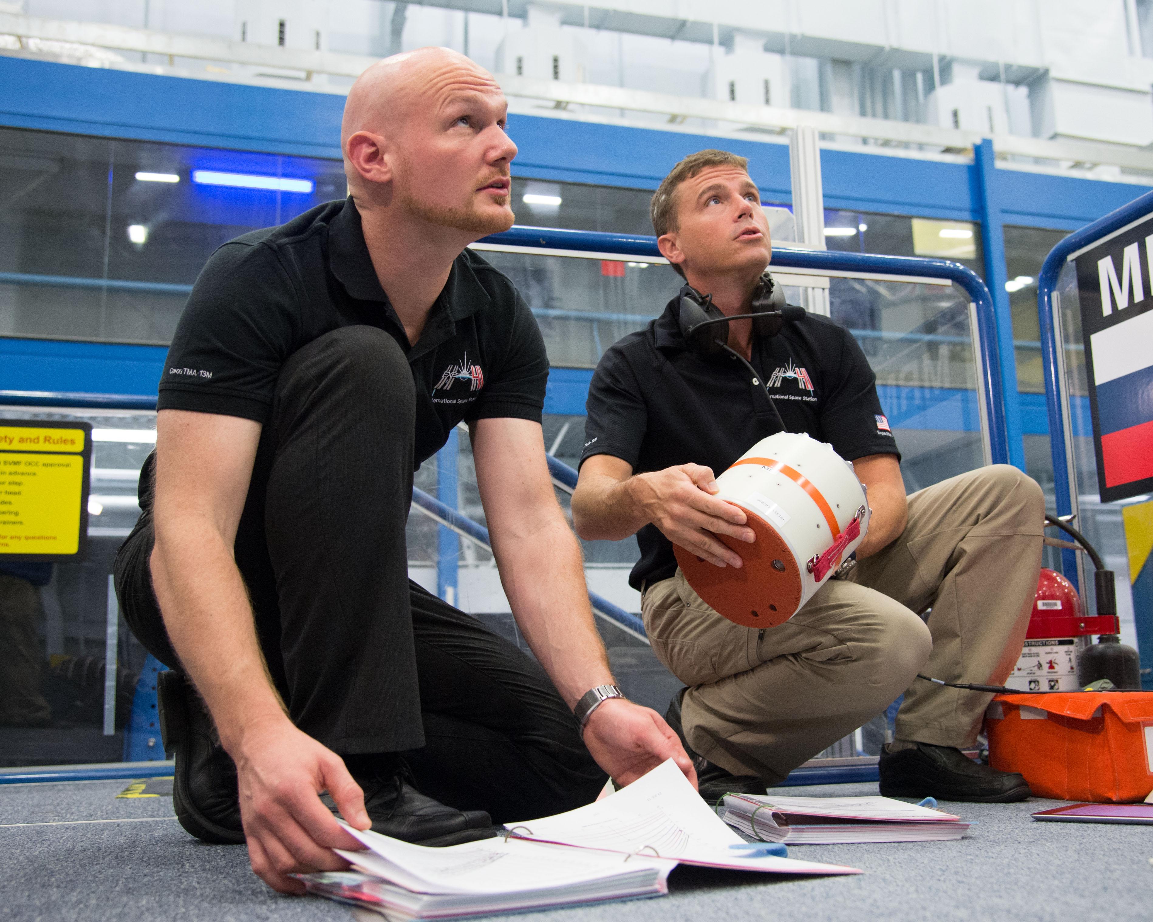 Astronauts Reid Wiseman and Alexander Gerst | NASA