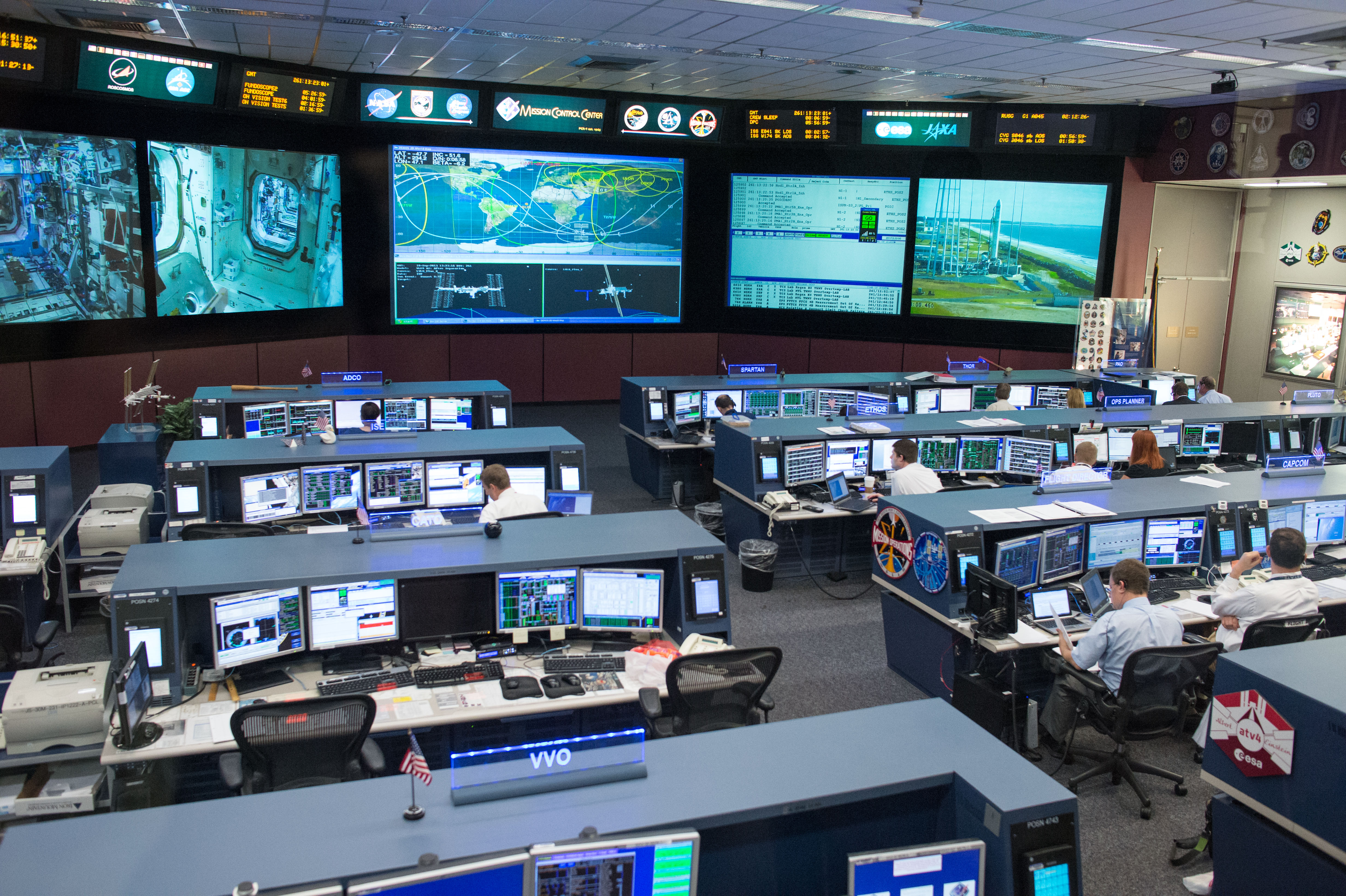 Johnson Space Center S Mission Control Center Nasa