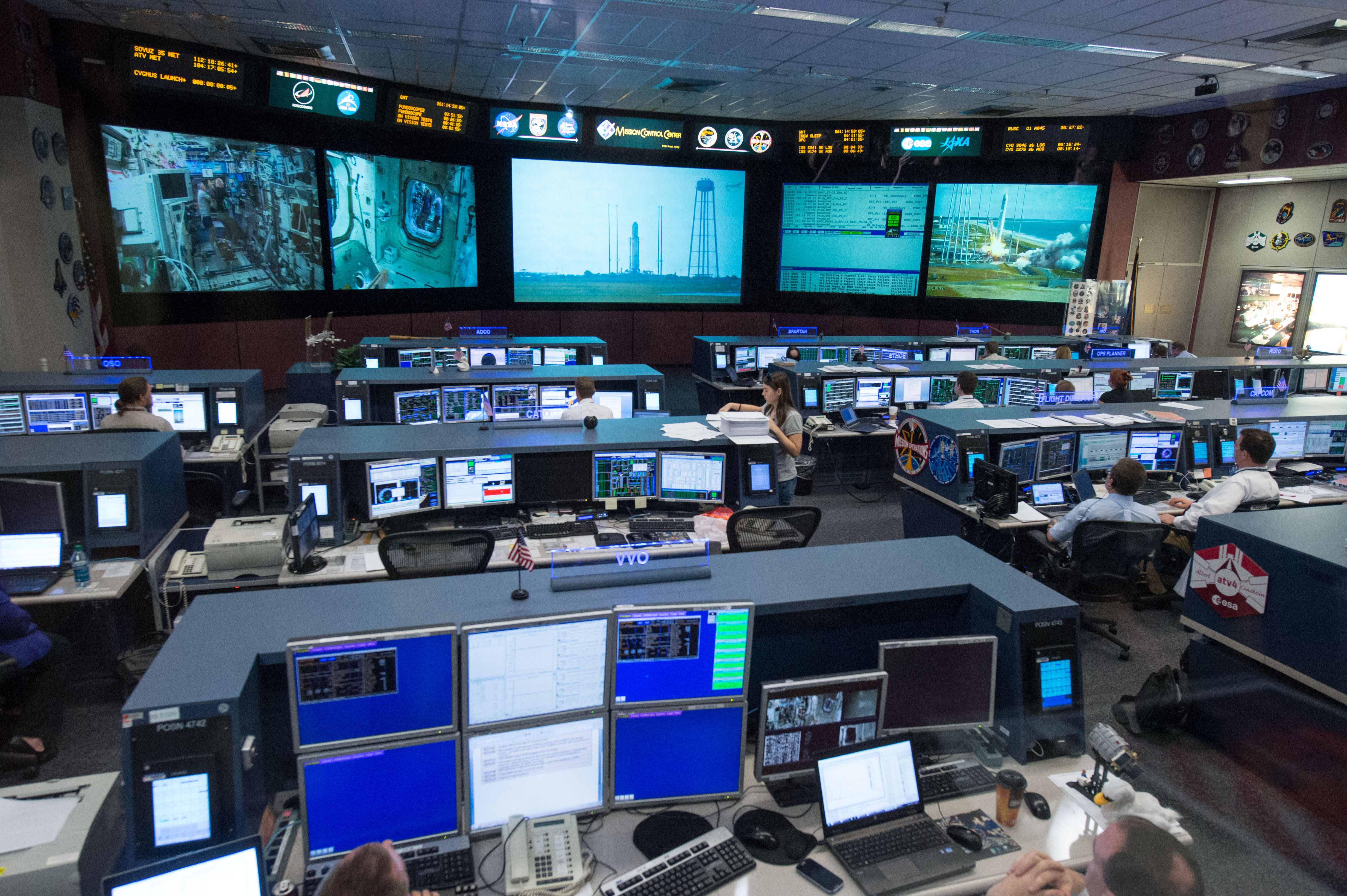 International Space Station Mission Control in Houston ...