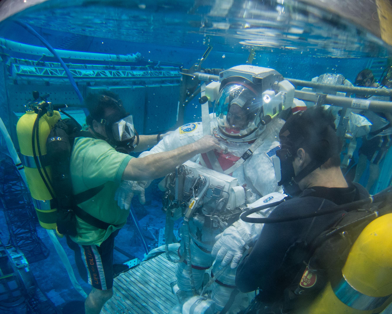 Astronaut Barry Wilmore Participates in EVA Training | NASA