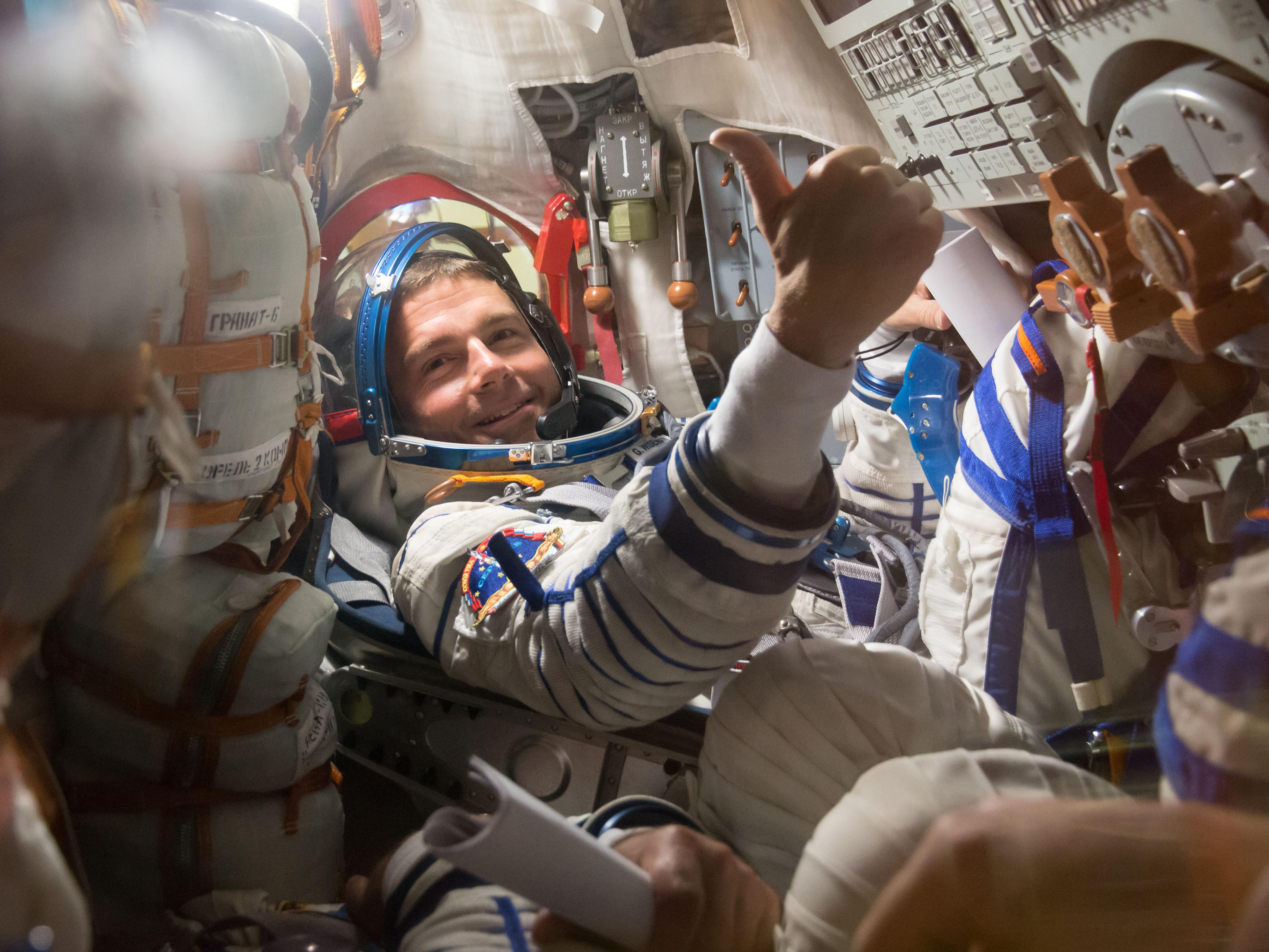 """Thumbs Up"" From Astronaut Reid Wiseman   NASA"