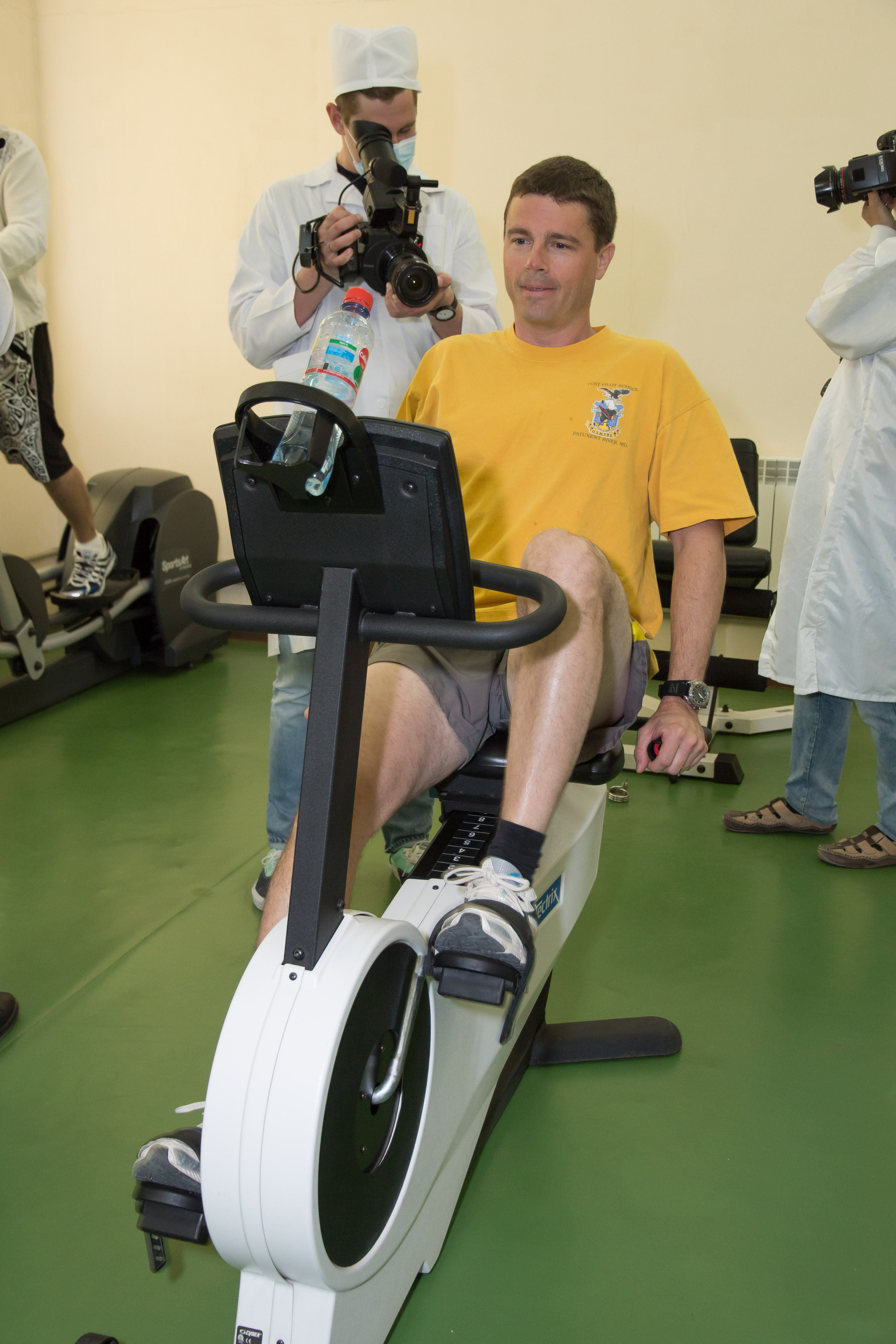 Astronaut Reid Wiseman Gets Some Exercise | NASA