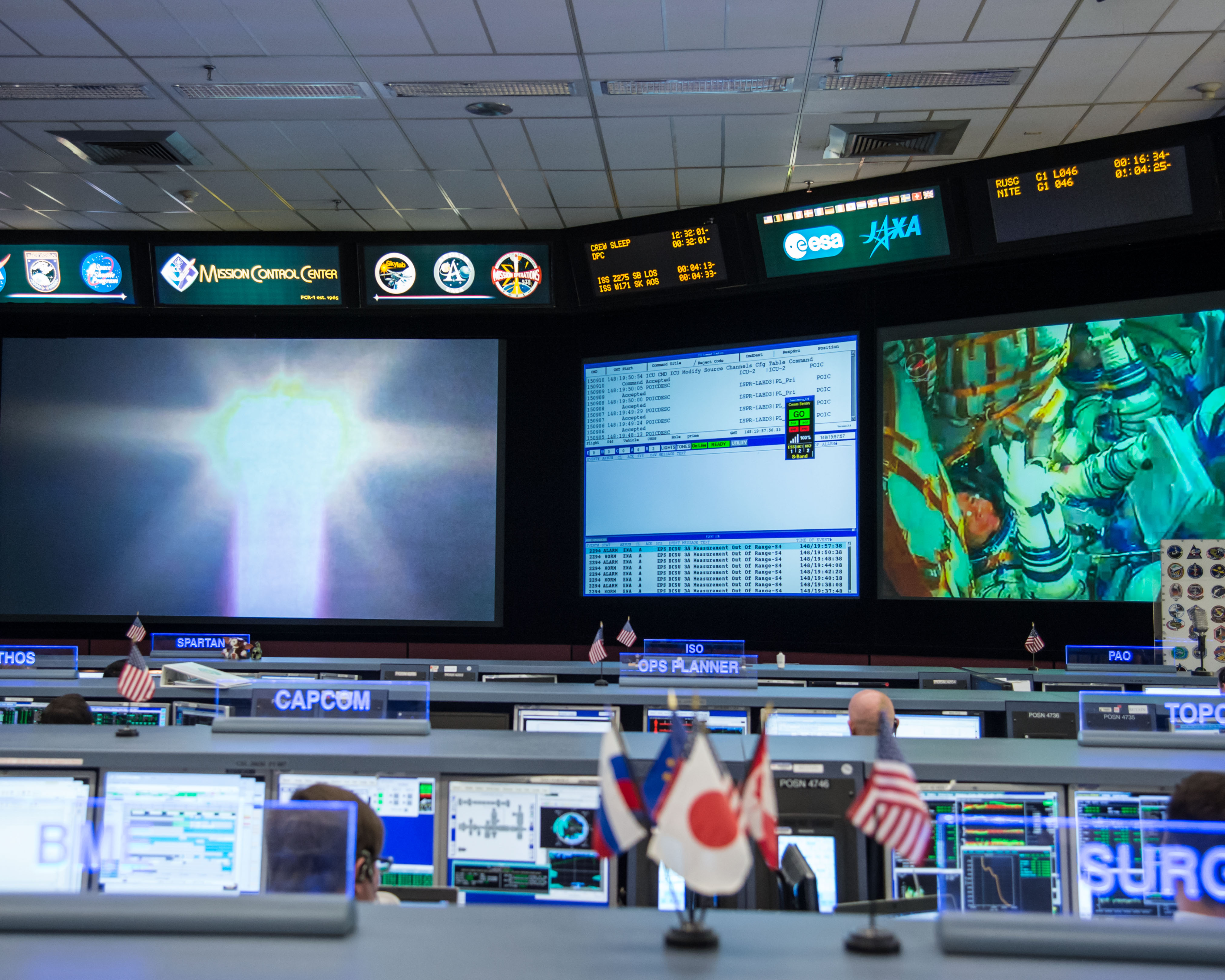 Houston's Mission Control During Soyuz Launch to Station ...