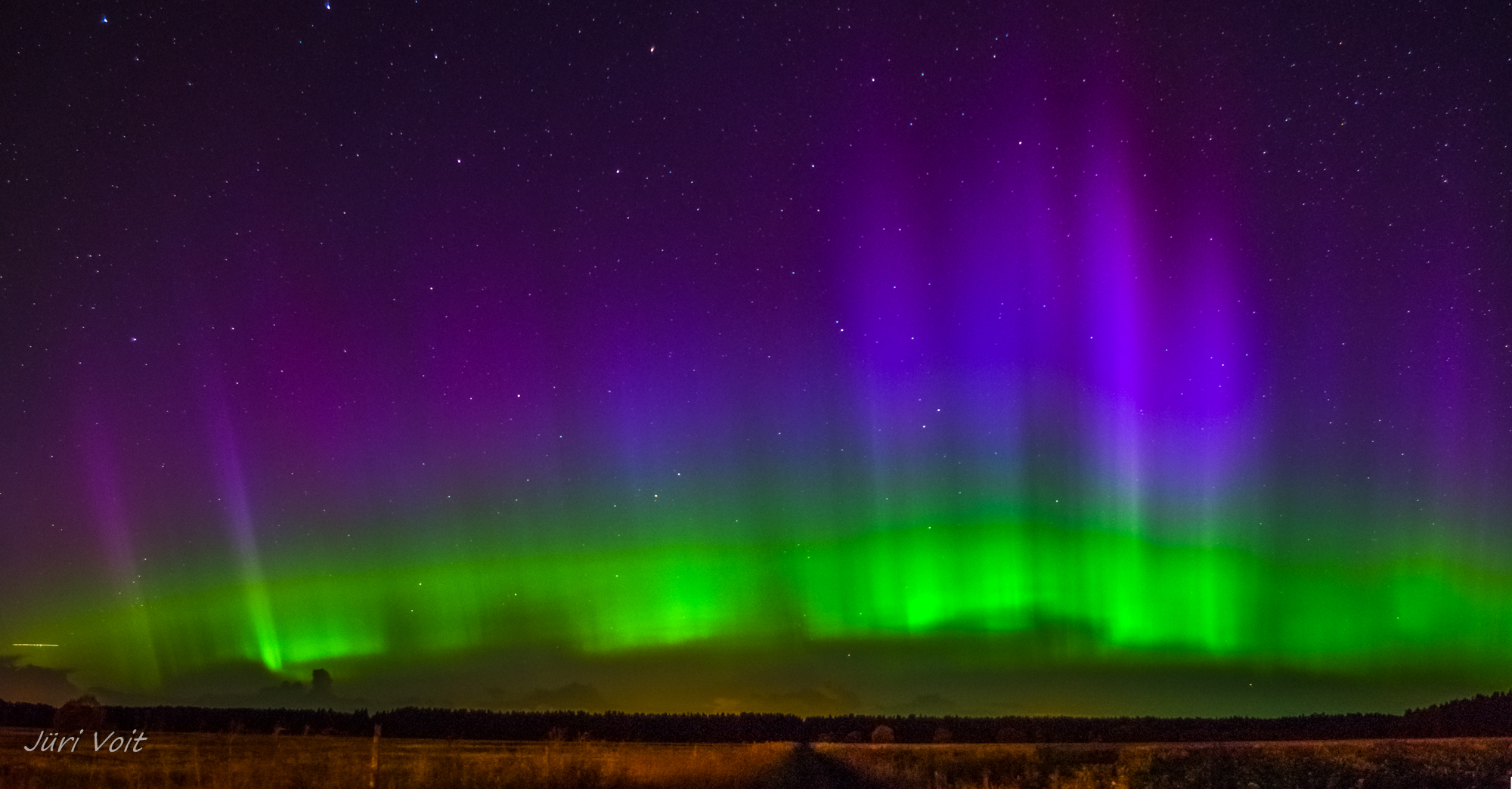 Purple and Green Aurora in Estonia | NASA