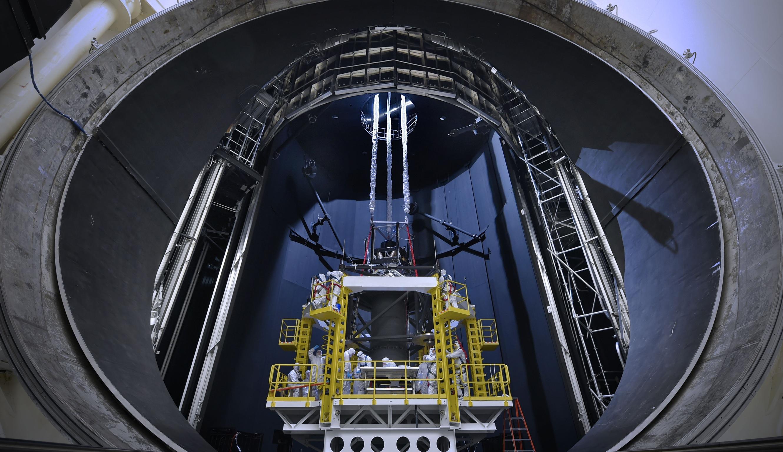 Amazing View Of Engineers Preparing NASAs Gigantic Space Simulation Chamber For Massive Test