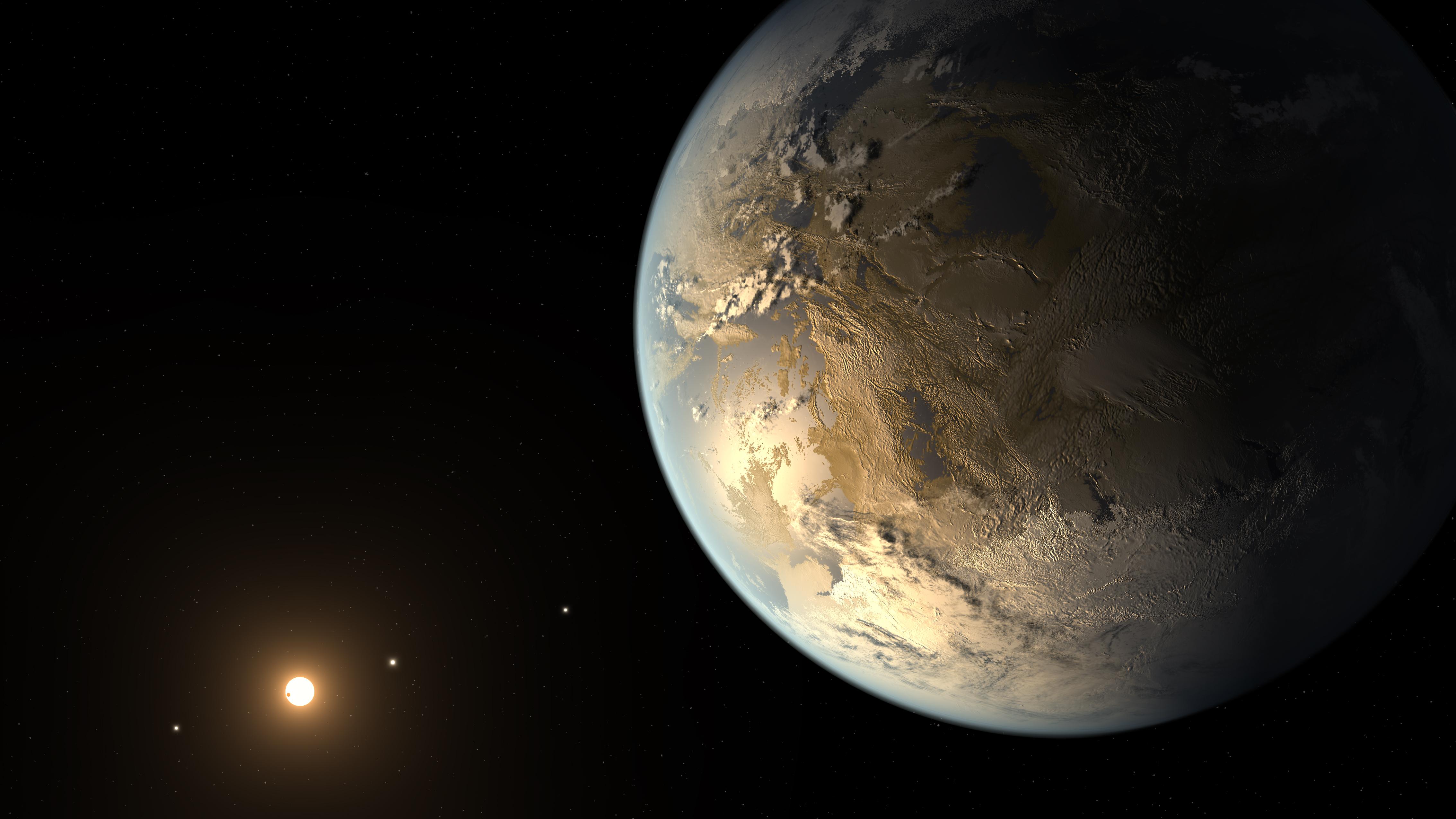 Καλλιτεχνική απεικόνιση του πρόσφατα ανακαλυφθέντος πλανήτη Kepler 186f