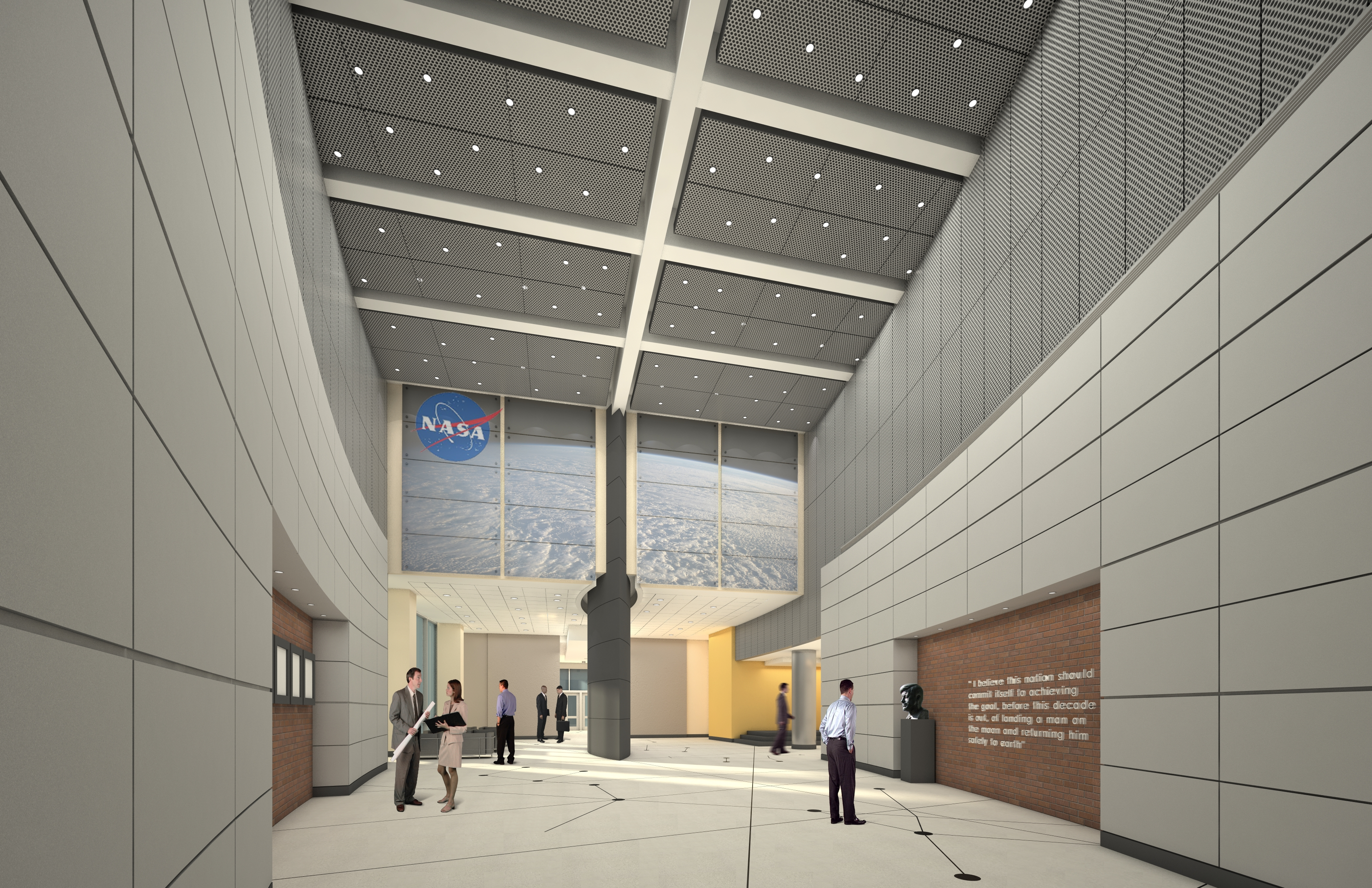Interior view new headquarters building nasa for Nasa architecture