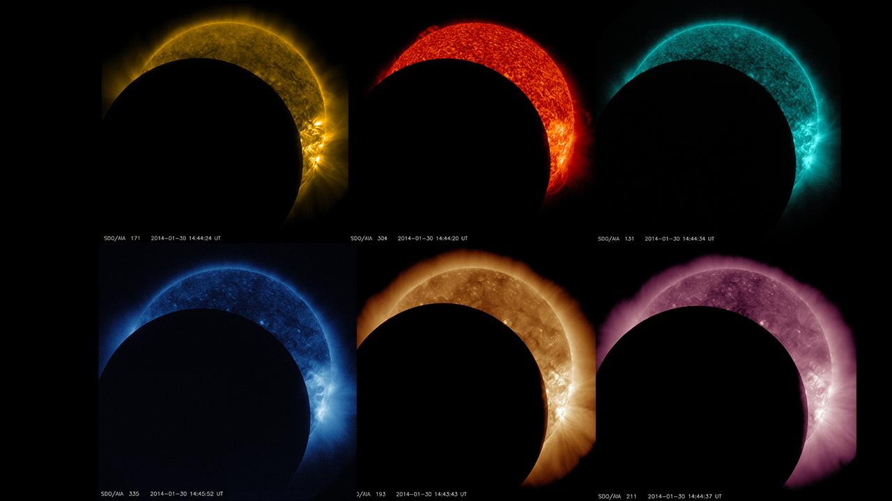 Colouring sheets of the lunar eclipse - Nasa S Sdo Sees Lunar Transit