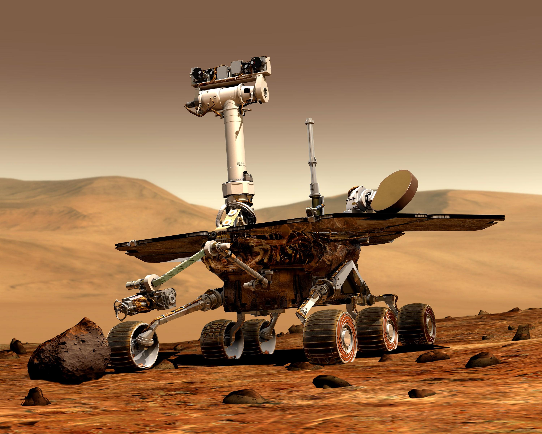 Mars Orbiter Sends First Snap Mer Rover