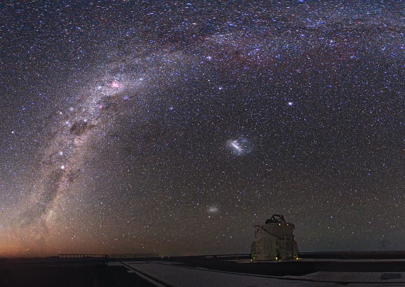 Wide-field image of Magellanic clouds (ground-based image