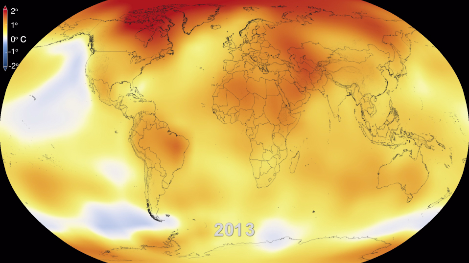 NASA Finds 2013 Sustained Long-Term Climate Warming Trend ...