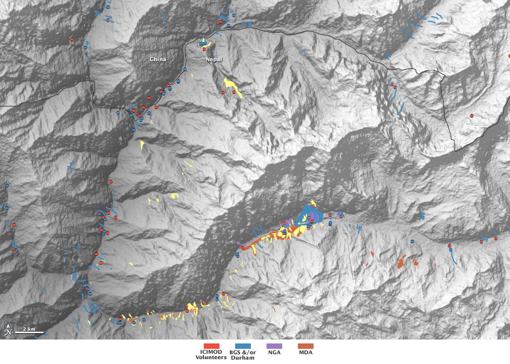 NASAled Volunteers Map Nepal Quake Landslides NASA
