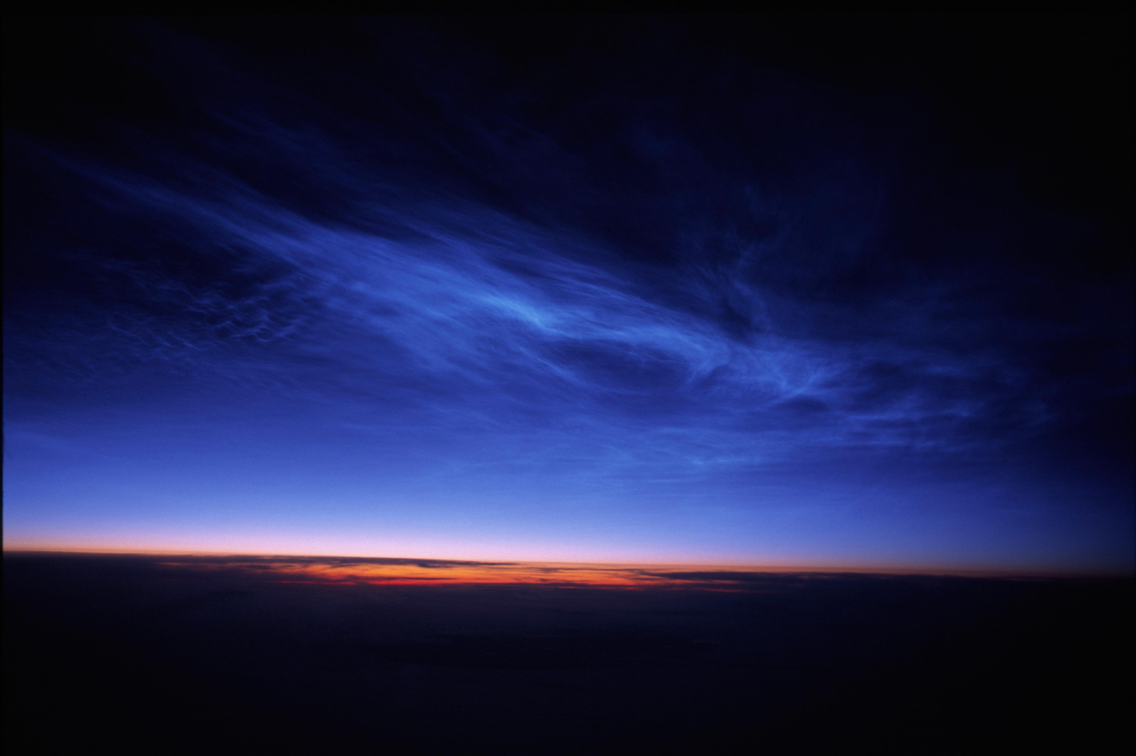 Výsledek obrázku pro noctilucent clouds