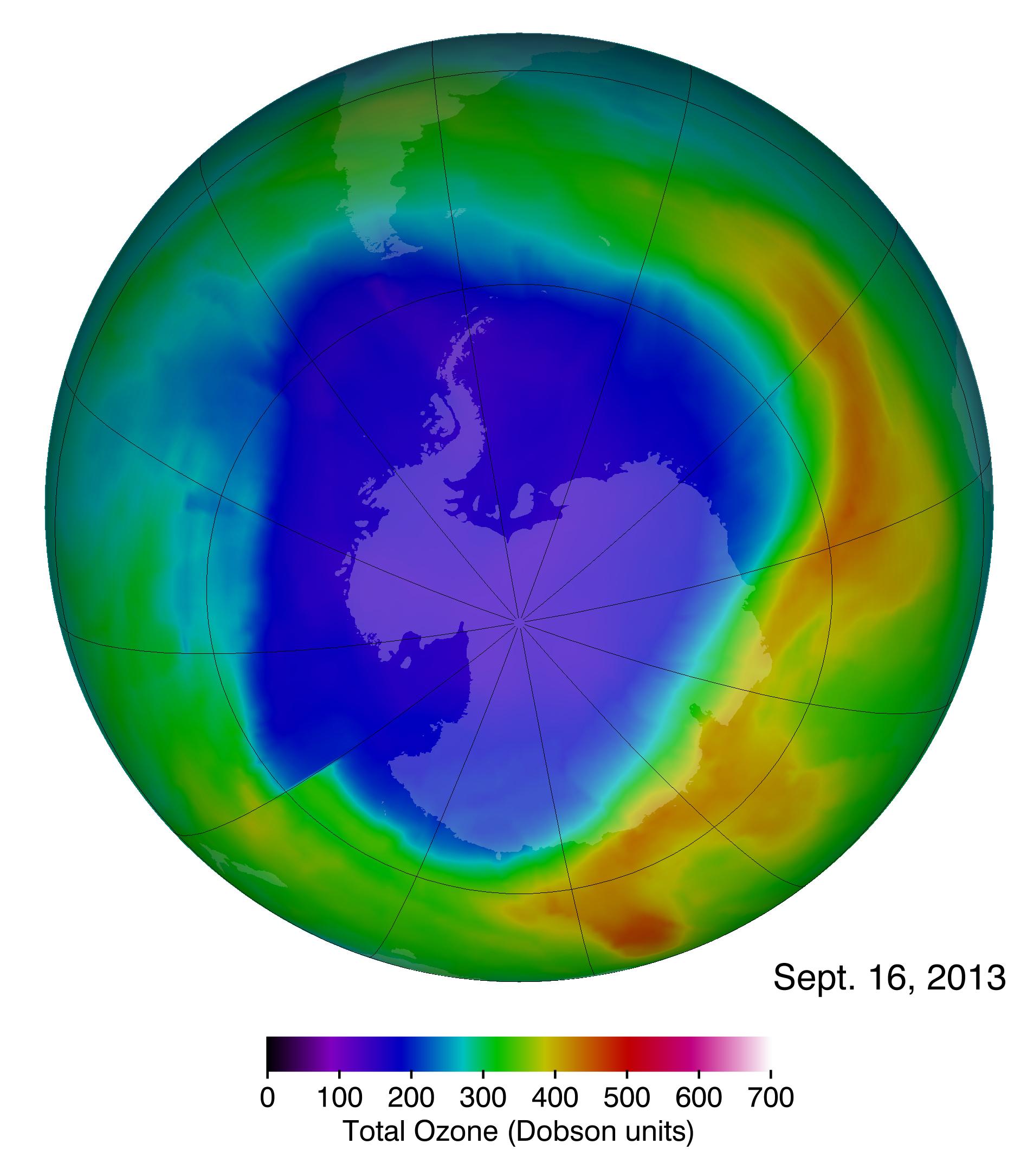 Antarctic Ozone Hole Slightly Smaller Than Average This