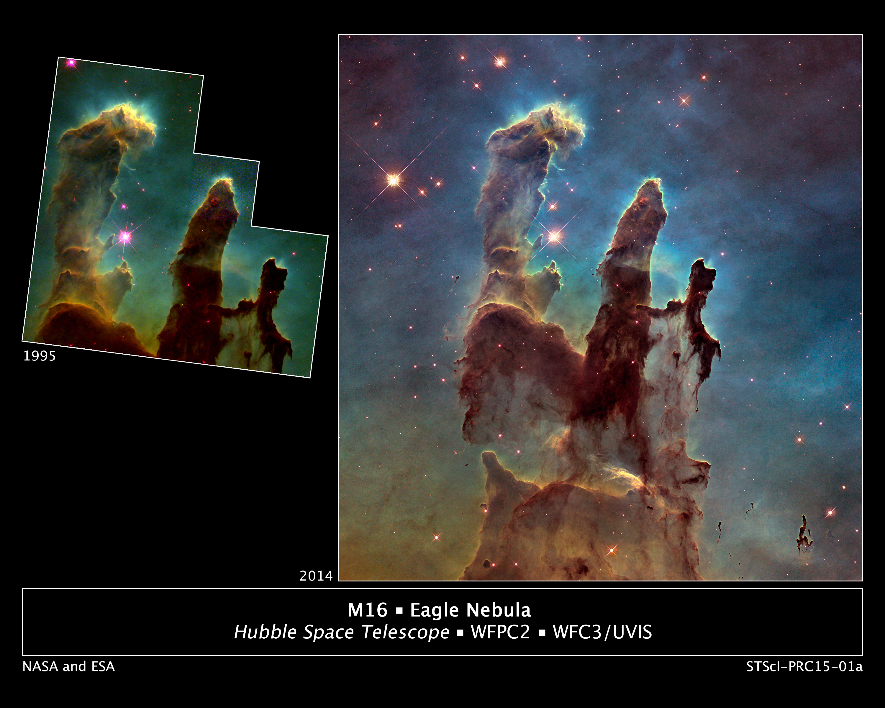 Hubble's new high-definition pic shows Pillars of Creation ...
