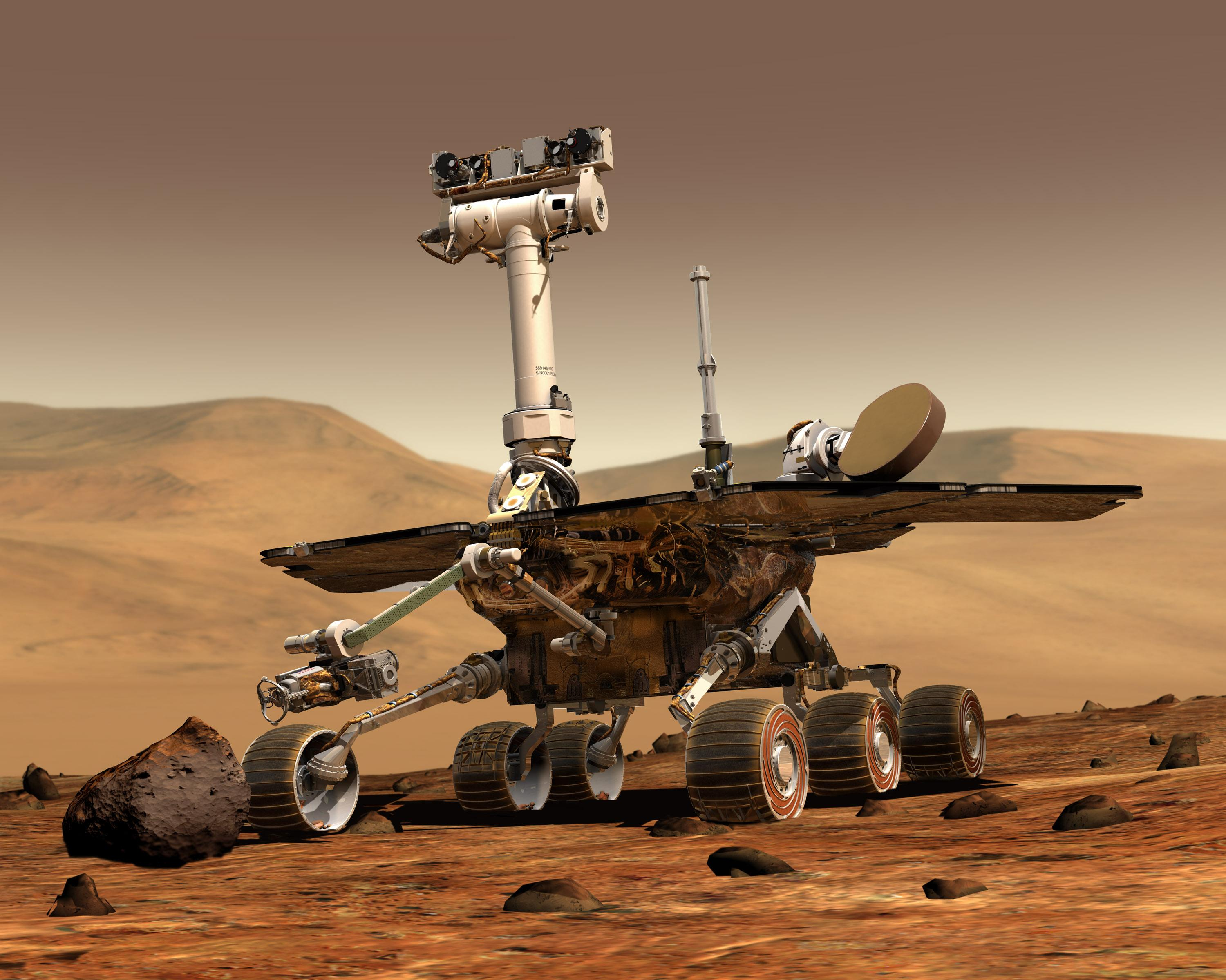 Artist rendering of the nasa rover opportunity