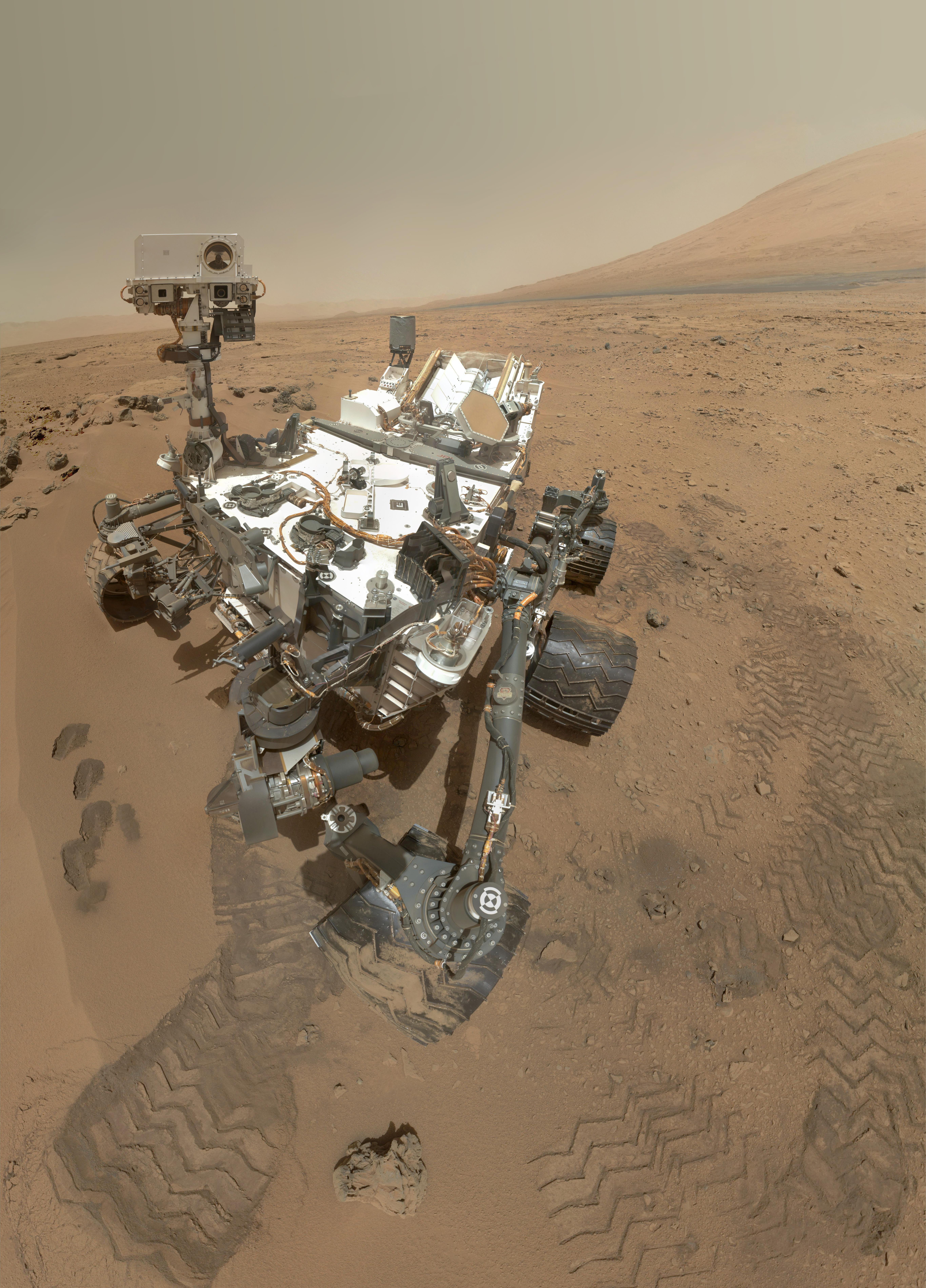 NASA image of the Curiosity Rover
