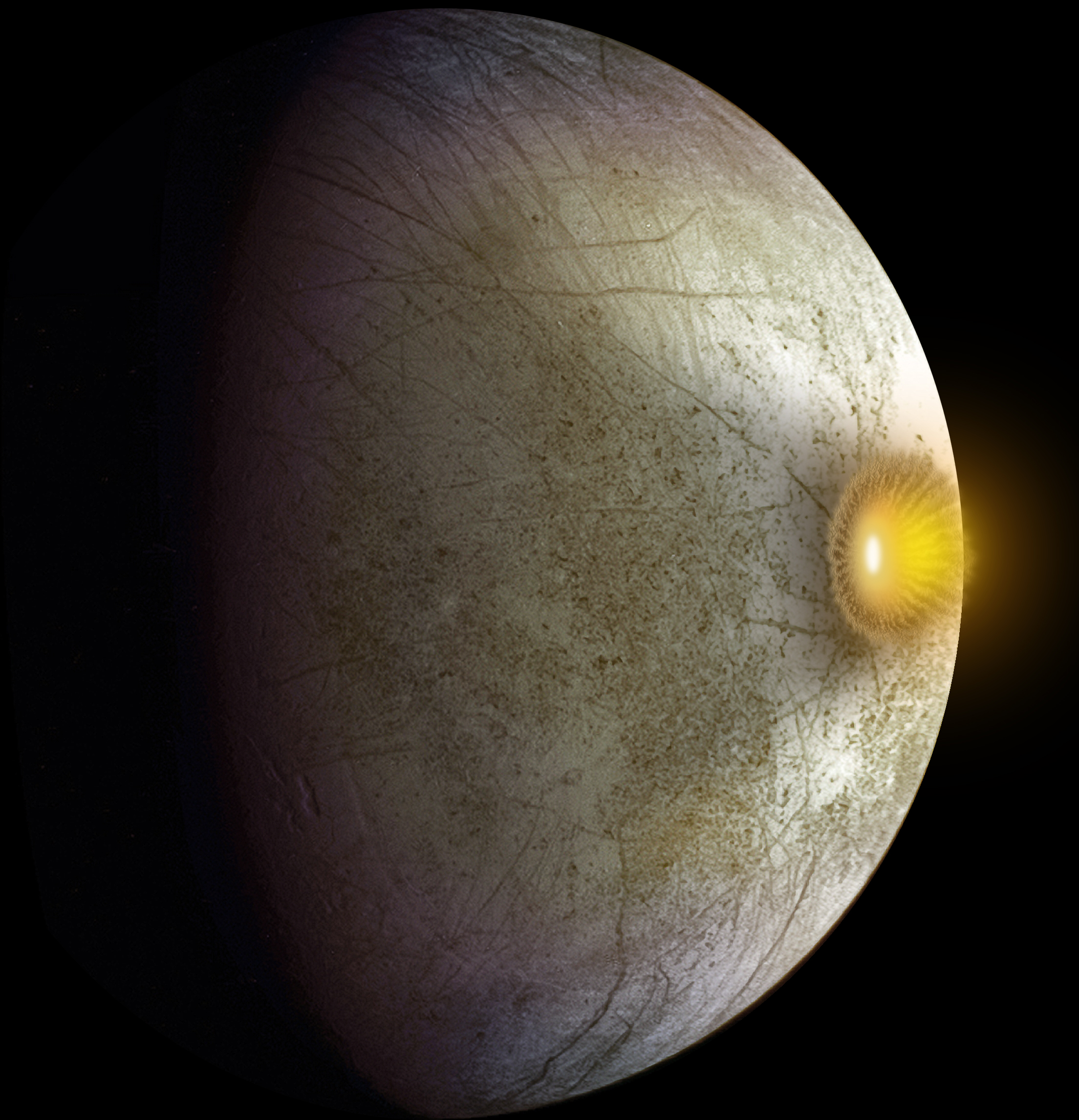 Hit Hard: Possible Collision at Europa (Artist's Concept ...