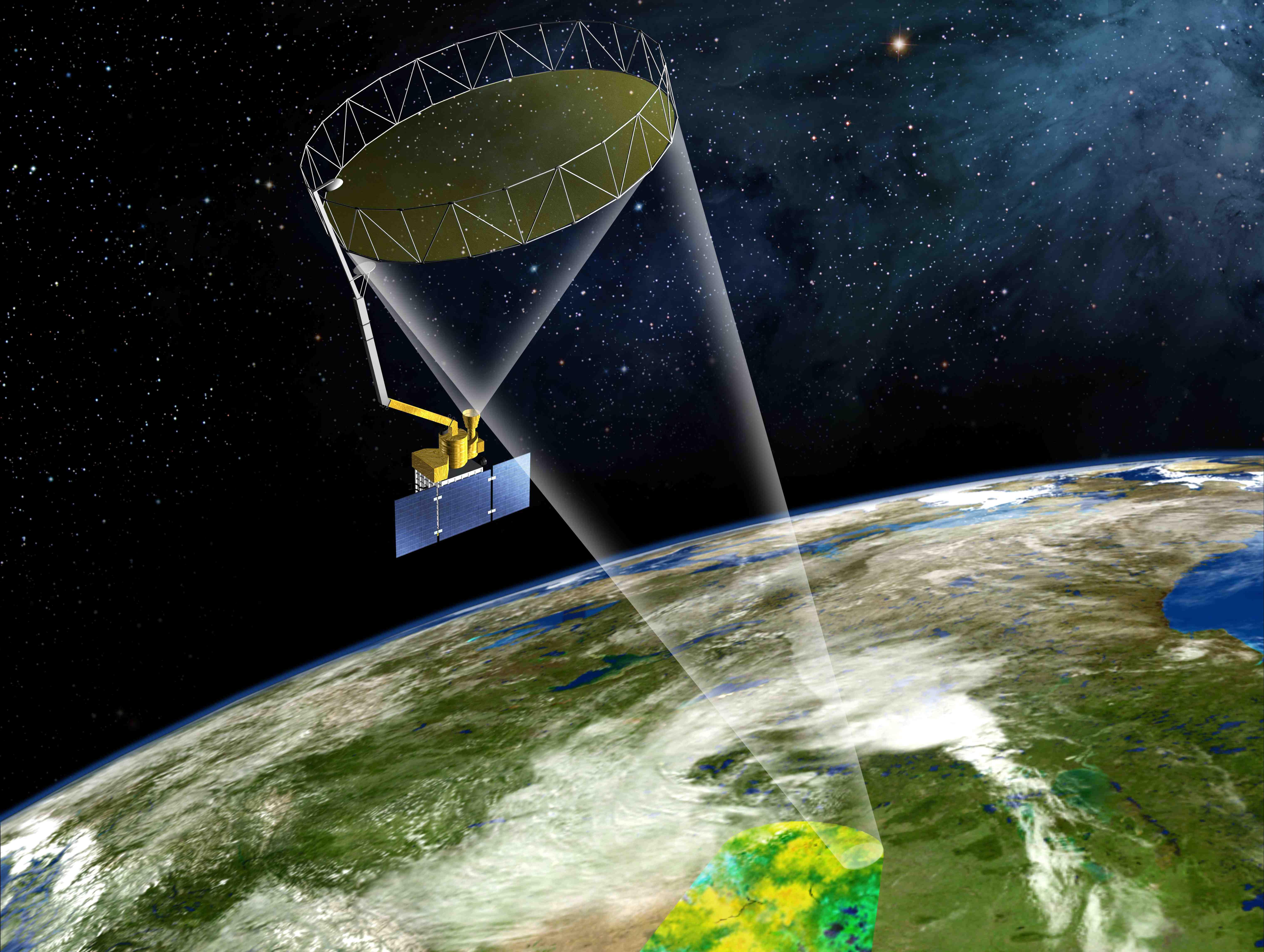 SMAP 위성의 임무 가상도