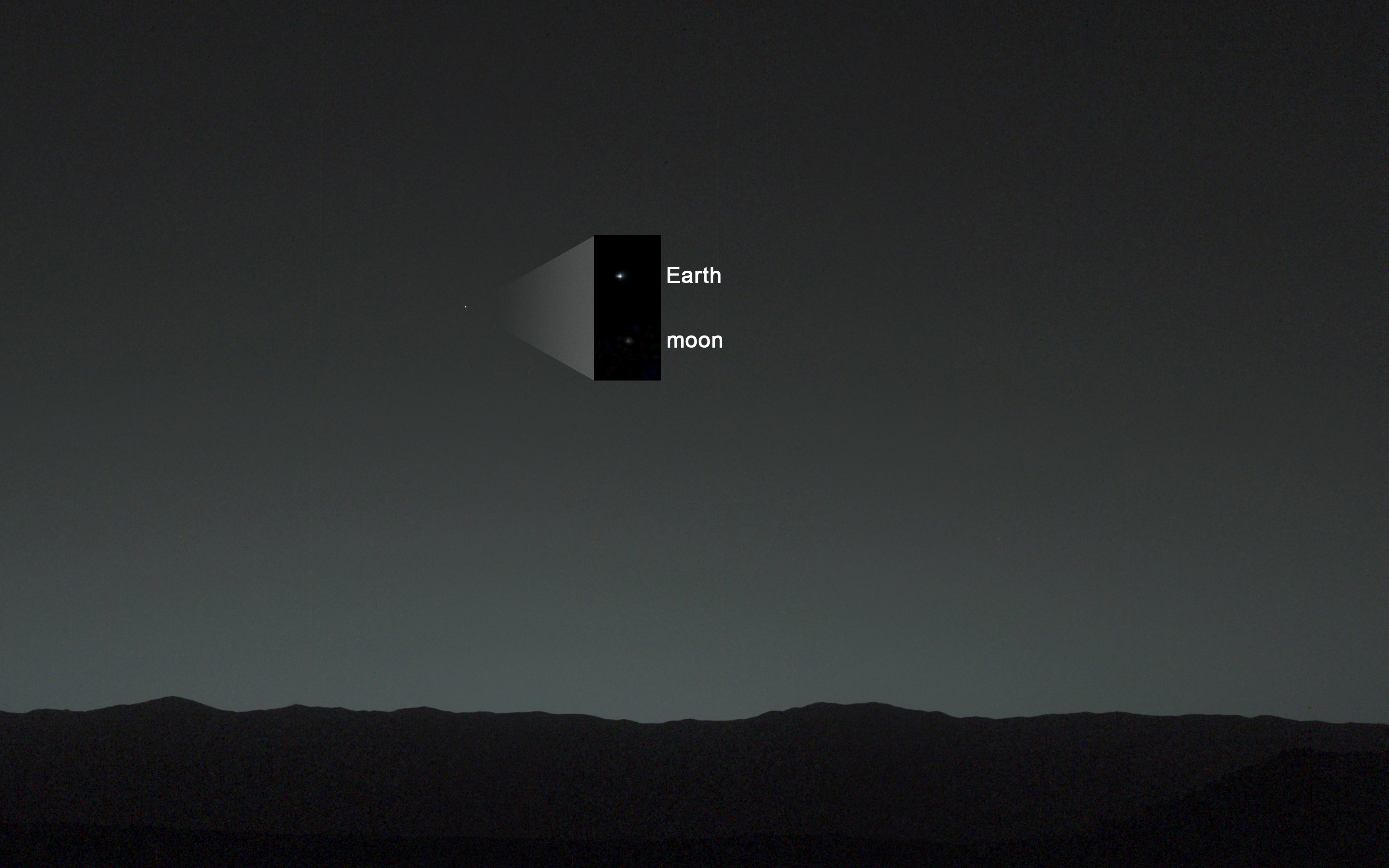 Curiosity Rover S First Picture Of Earth From Mars Nasa