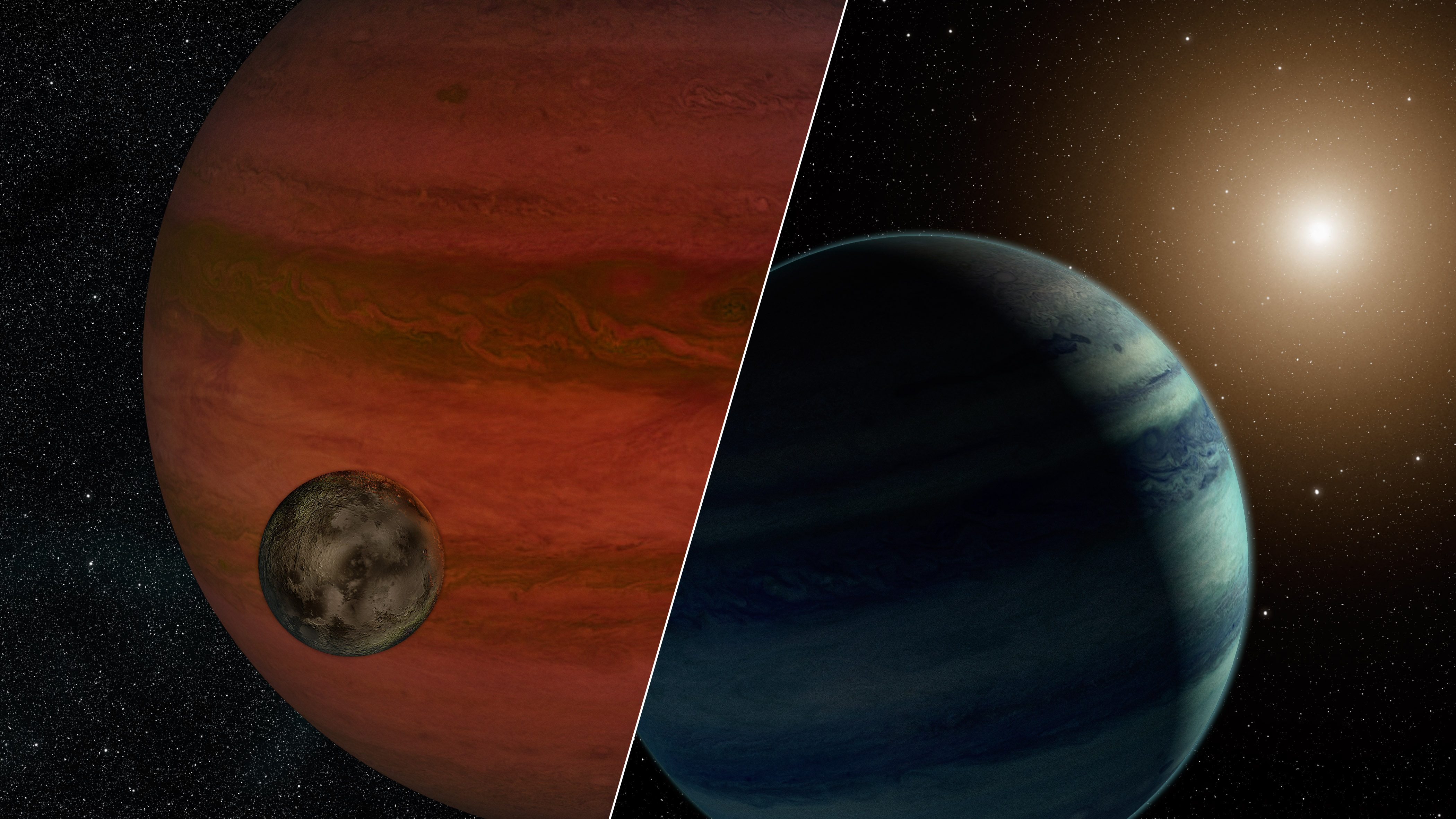 Gmail planets theme - Artist S Concept Of A Moon And A Planet Or A Planet And A Star