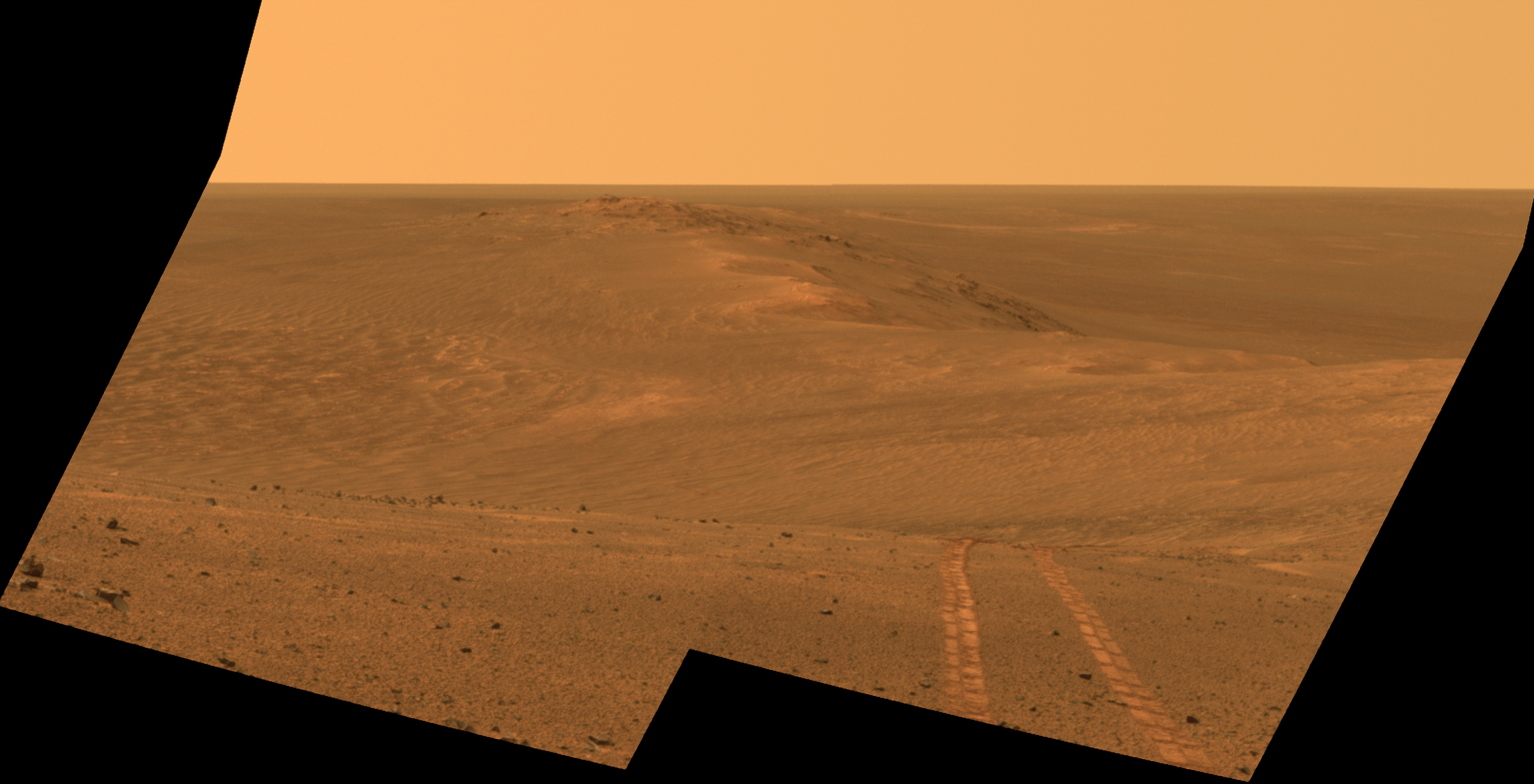 Mars Rover Opportunity S Vista Includes Long Tracks Nasa