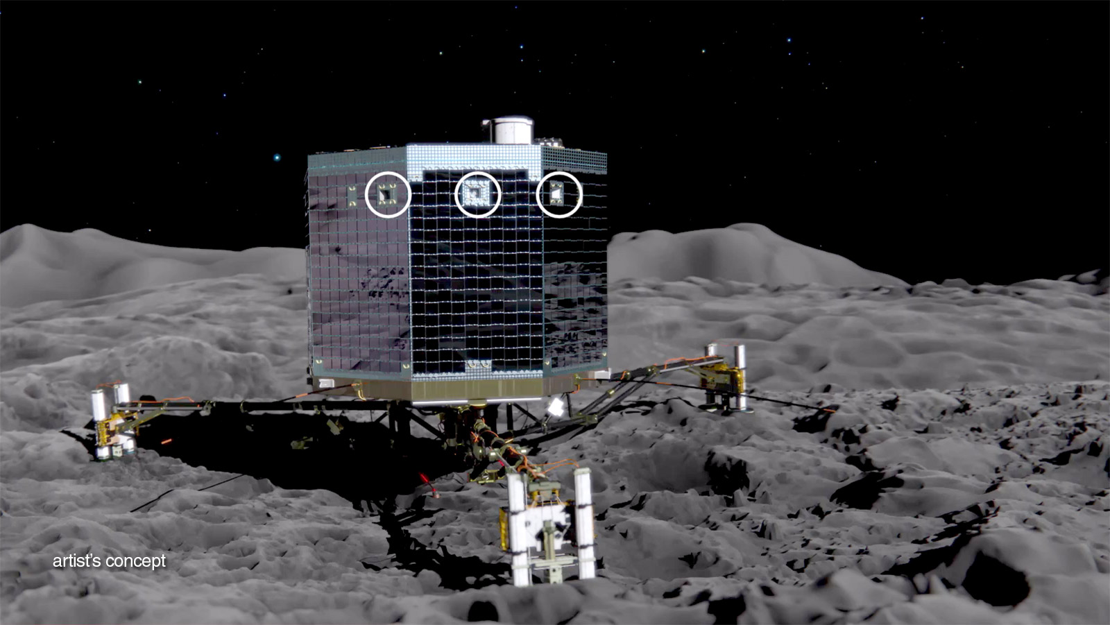 Rosetta lander Philae heads towards comet surface  YouTube