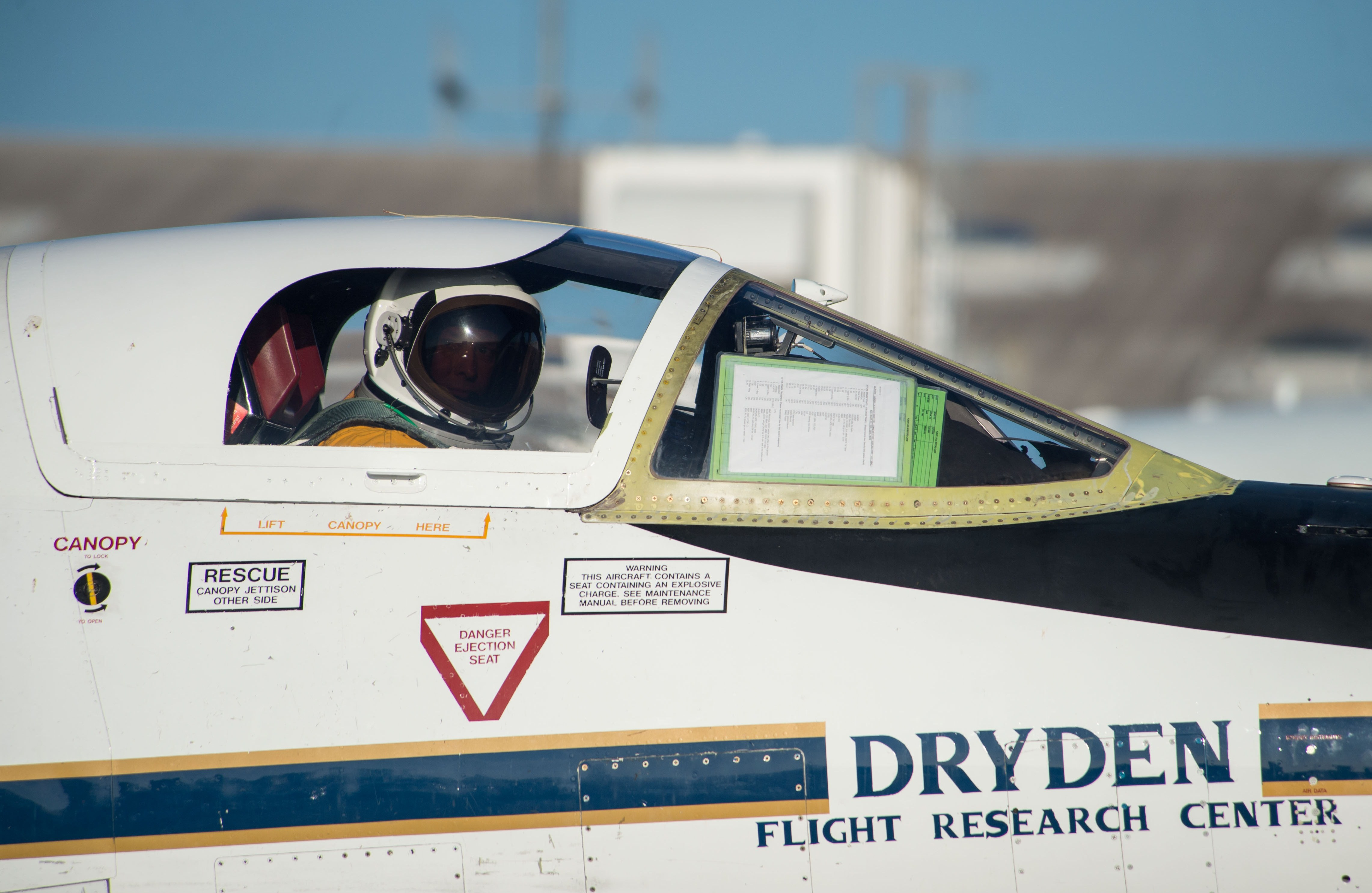 ER-2 pilot in pressurized suit prepares for Aug. 12 SEAC4RS flight. Image Credit: NASA / James Blair