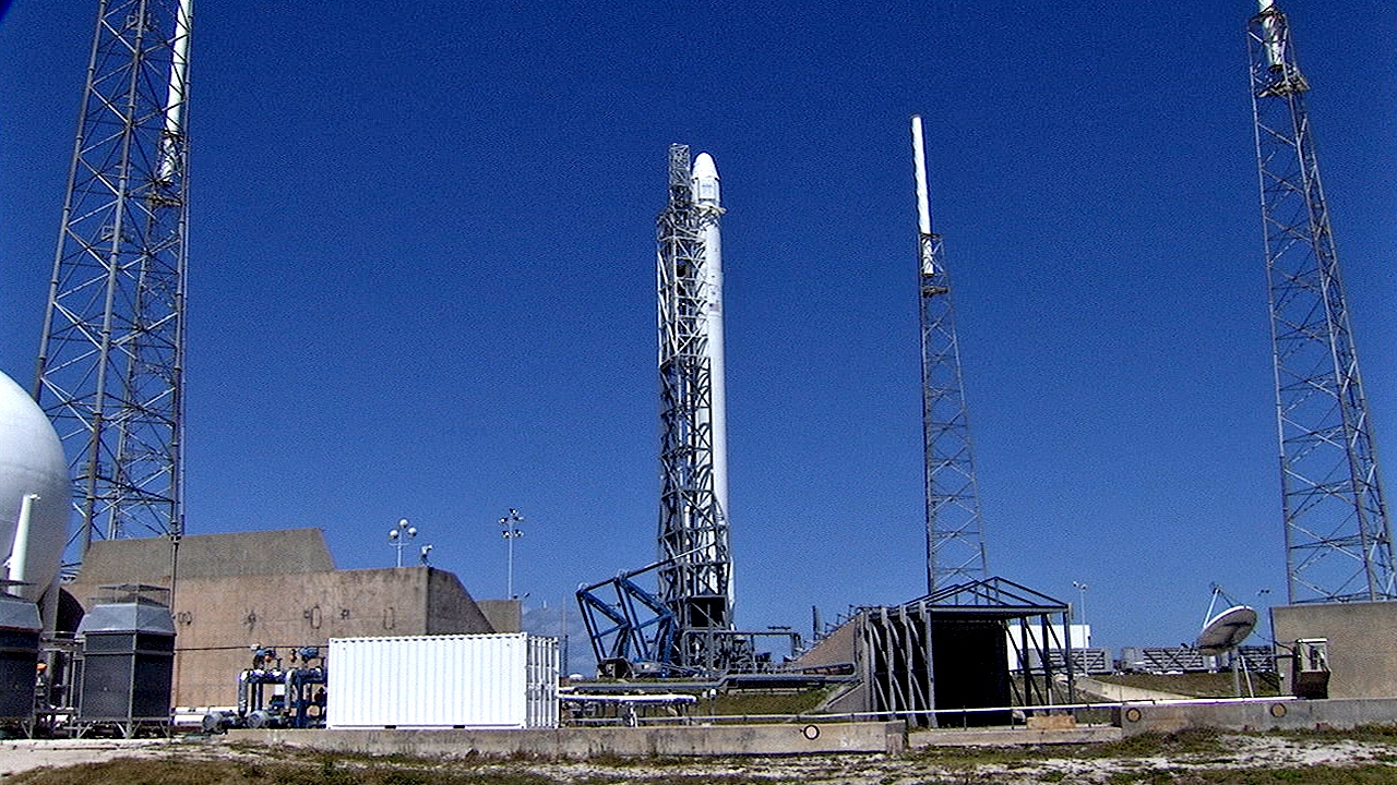 Falcon 9 on Launch Pad for SpaceX-3 | NASA
