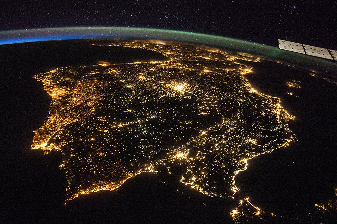 Space station images of earth at night crowdsourced for science nasa north korea the dark area and south korea at night gumiabroncs Choice Image