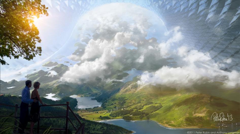 Artist concept of a future space habitat