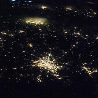 Nighttime Image of Texas Cities