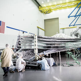 """NASA's Webb Sunshield Gives an """"Open Wide"""" for Inspection image"""