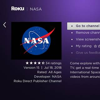 NASA Launches Channel for Roku