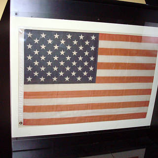 first U.S. flag flown in space