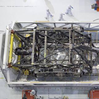 James Webb Space Telescope Backplane Arrives at NASA Goddard for Mirror Assembly image