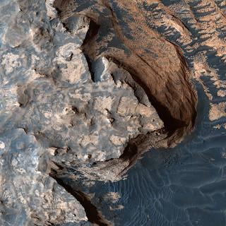 Mars terrain imaged from Mars orbit